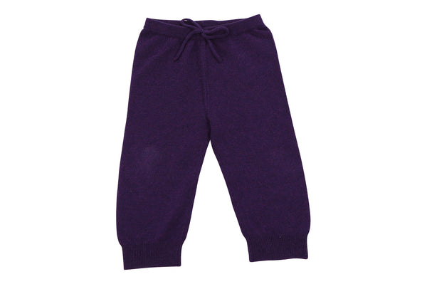 purple cashmere baby pants