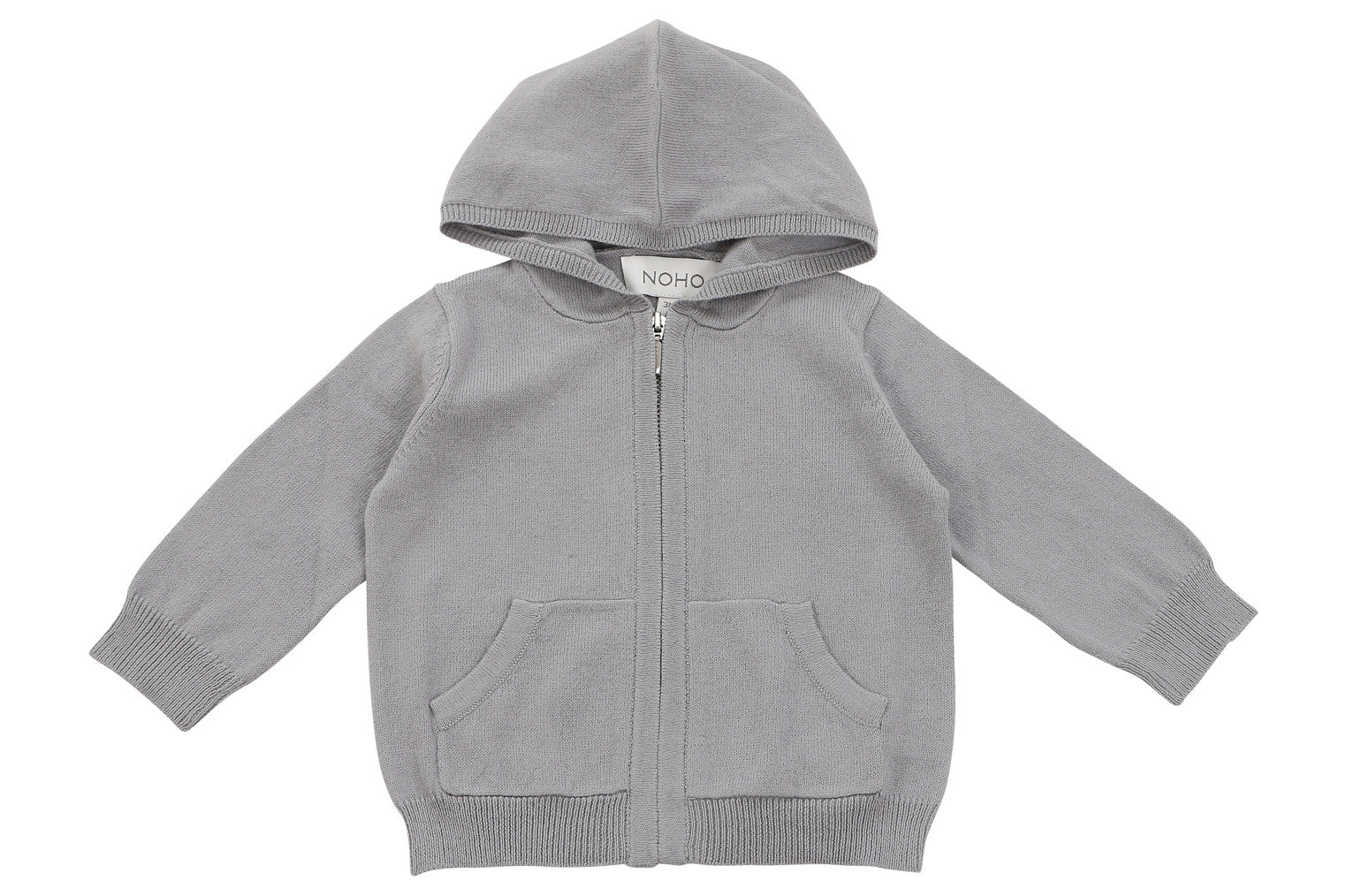 cotton cashmere grey baby hoodie