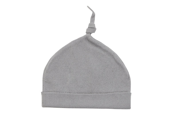 cotton cashmere grey baby hat