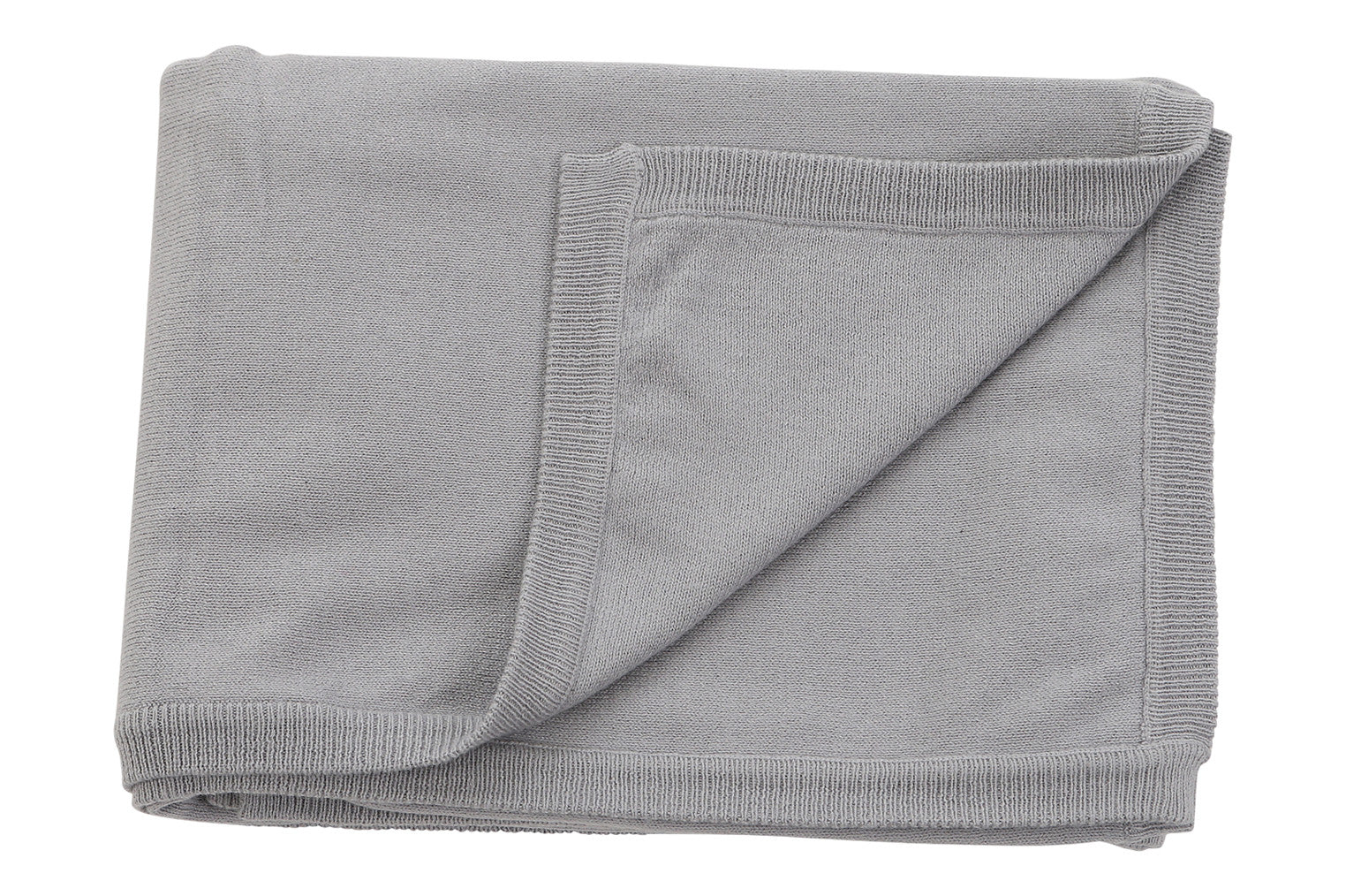 cotton cashmere grey baby blanket