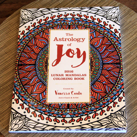 Astrology of Joy - 2016 Lunar Mandalas Coloring Book by Vanessa Couto - Saturday with Mary Jane