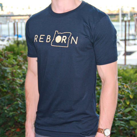 REBORN Navy Unisex T-shirt - Saturday with Mary Jane
