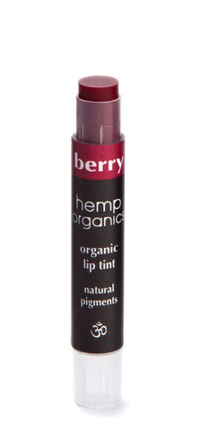 Hemp Oil Organic Lip Tint with Vitamin E, Berry - Saturday with Mary Jane