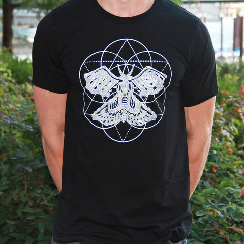 Sacred Moth Geometry Mandala Men's T-shirt - Saturday with Mary Jane