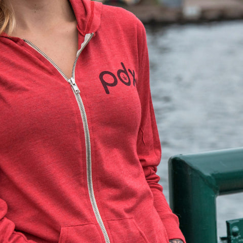 Saturday With Mary Jane's PDX Pot Unisex Red Hoodie - Saturday with Mary Jane