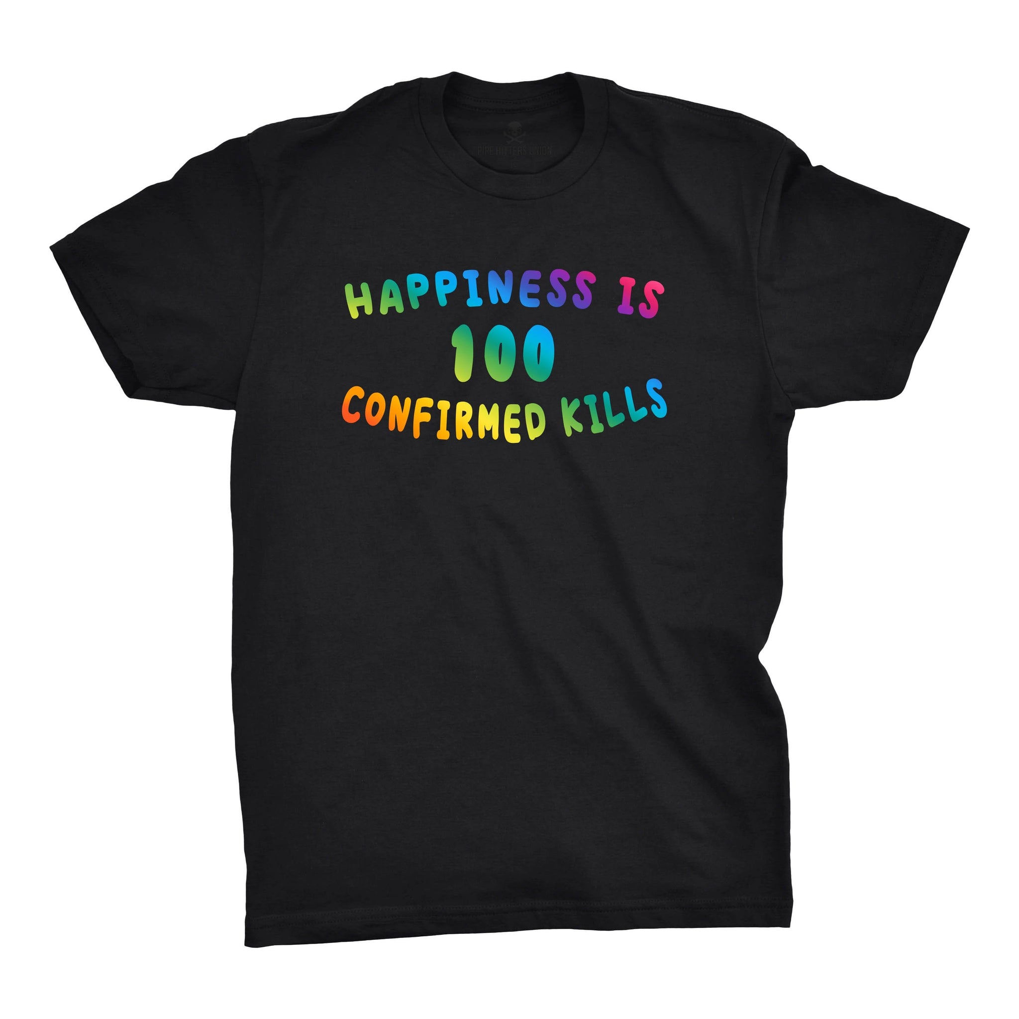 Happiness is 100 Confirmed Kills - Black/Multi - T-Shirts - Pipe Hitters Union