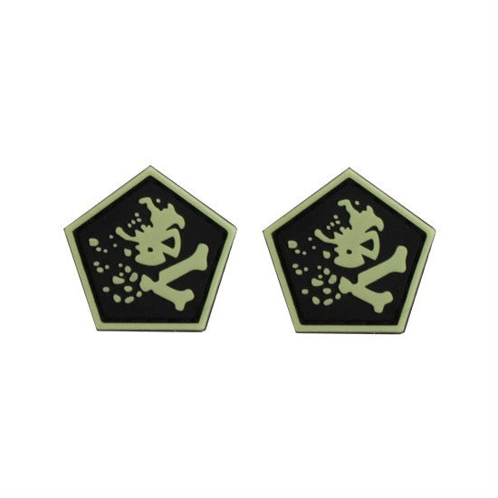 Pentagon Blast Skull & Bones Ranger Eyes (Sold in Pairs)