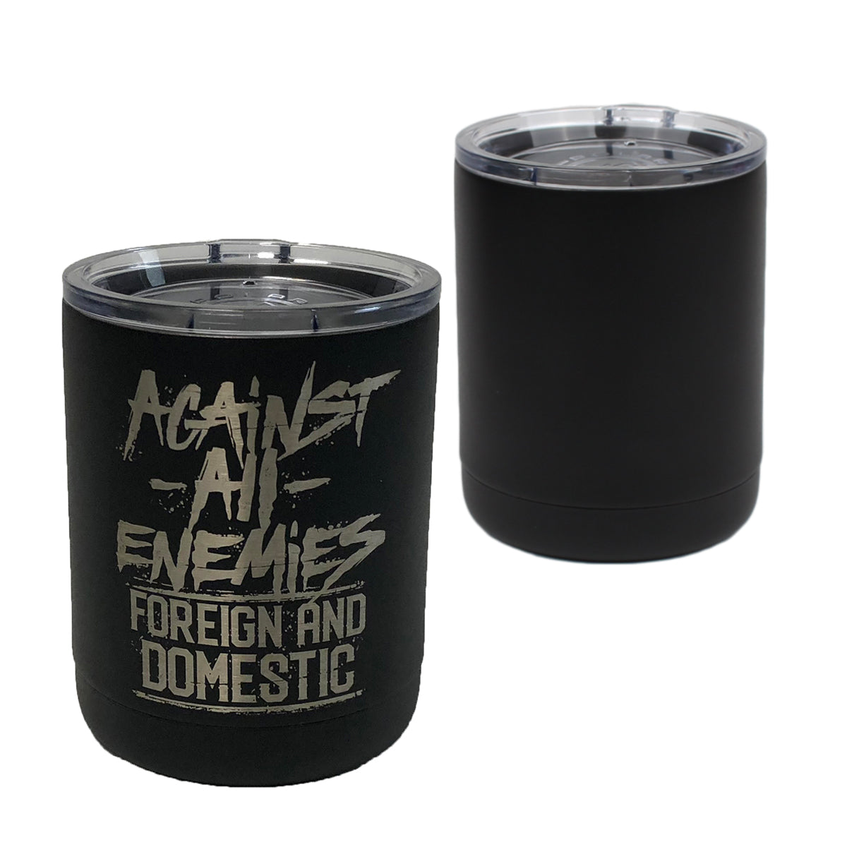 Against All Enemies - 10oz Lowball - Pipe Hitters Union