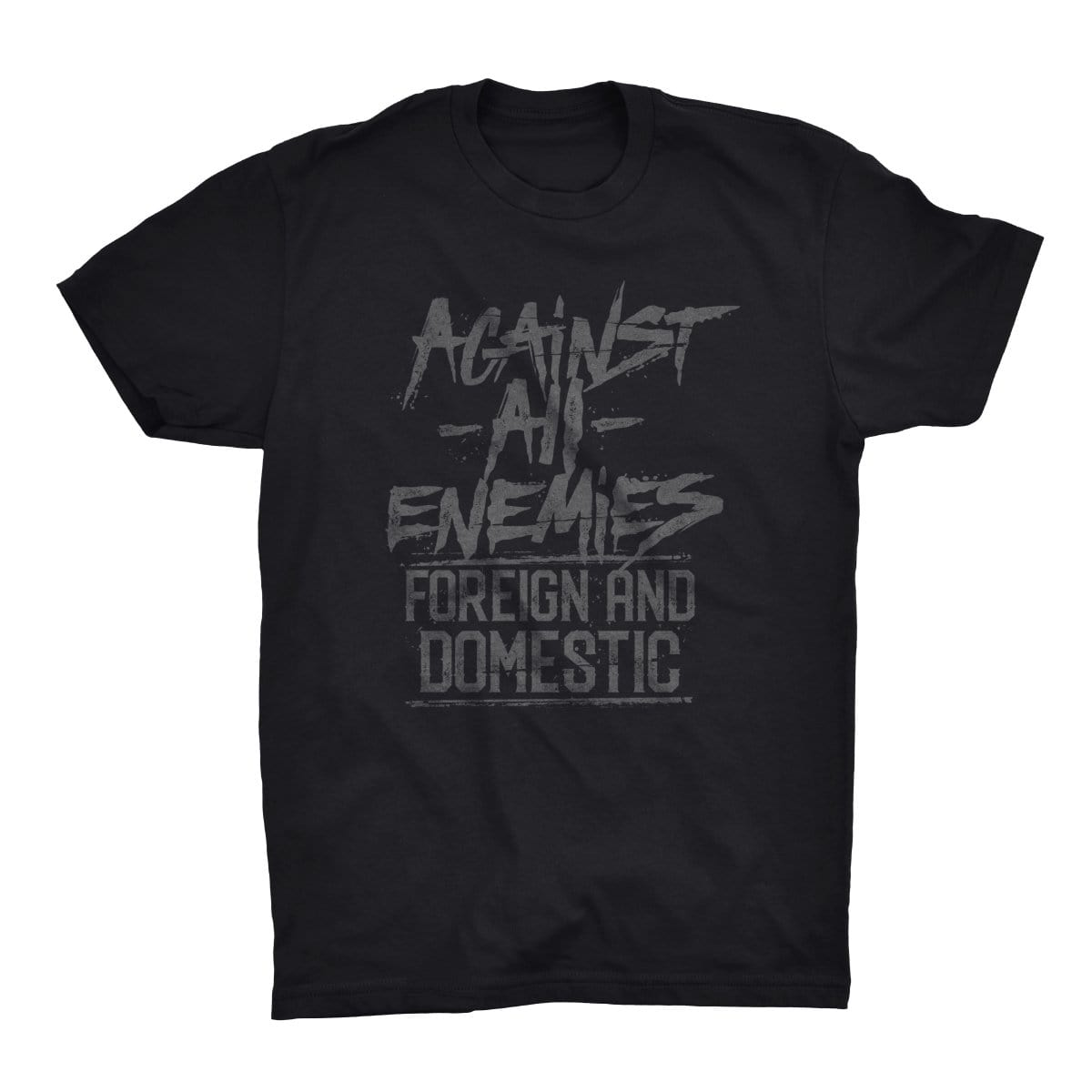 Against All Enemies - Black/Grey - T-Shirts - Pipe Hitters Union