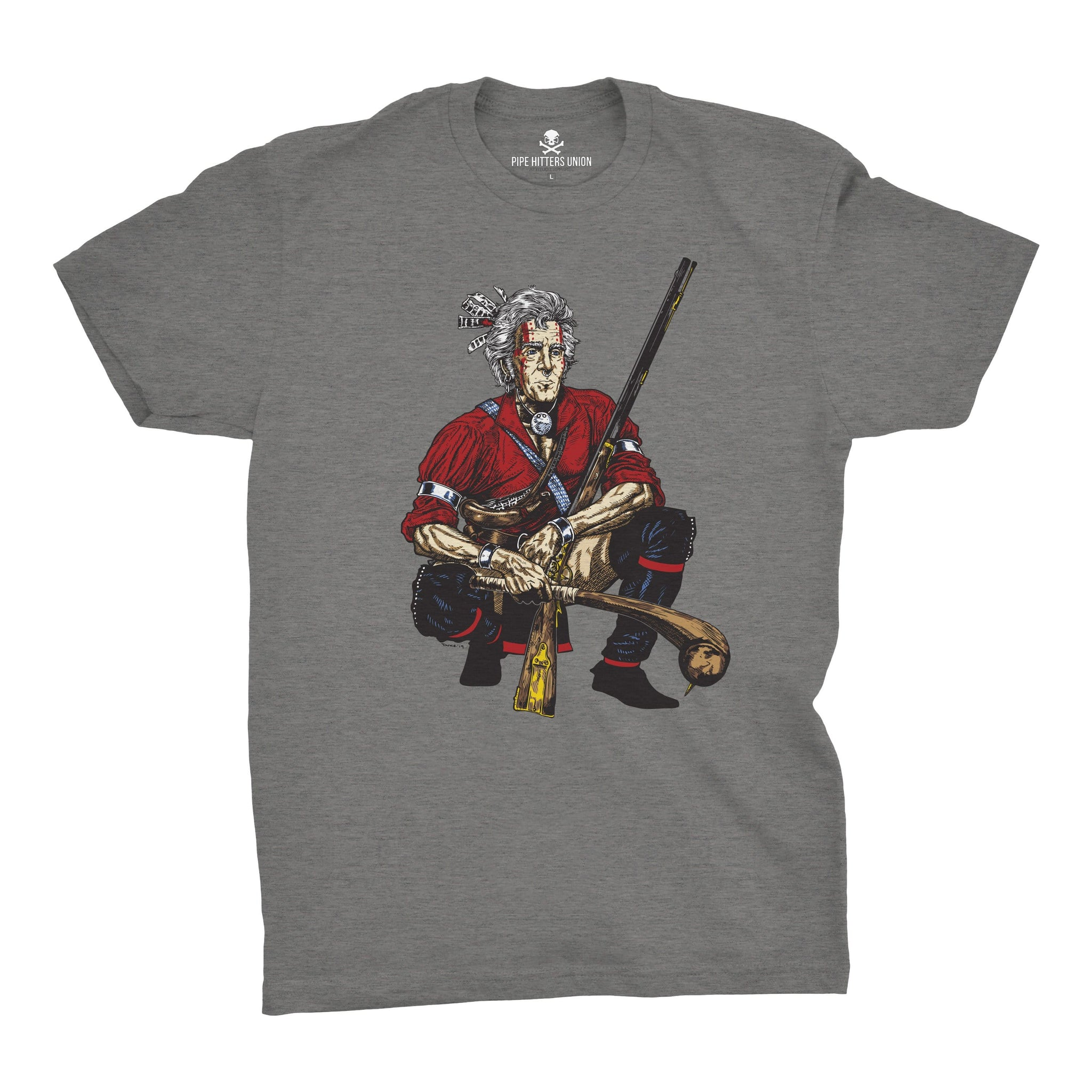 Original Pipe Hitter - Andrew Jackson - Grey - T-Shirts - Pipe Hitters Union