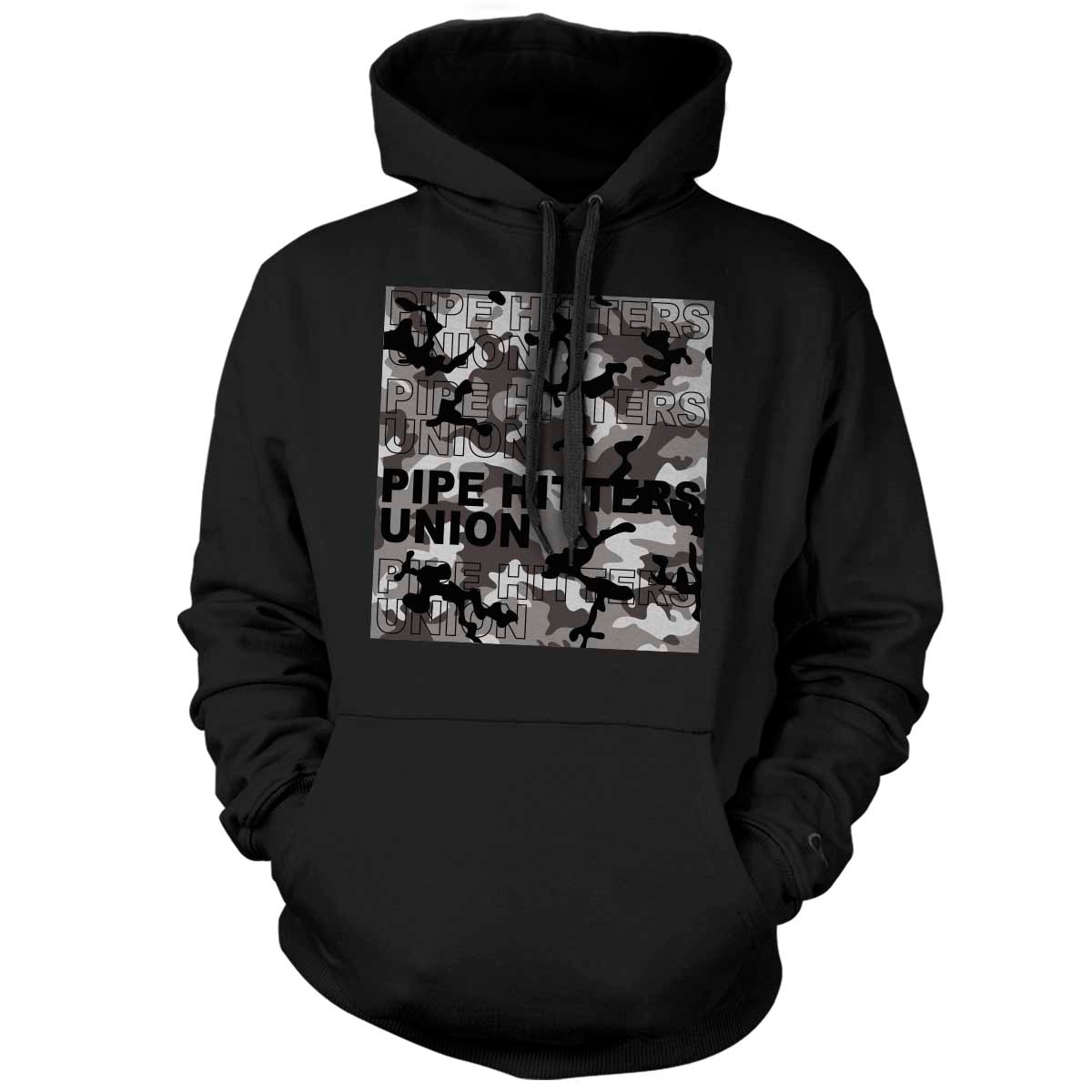 Pipe Hitter Pattern Analysis - Hoodie - Black/Arctic Woodland Camo - T-Shirts - Pipe Hitters Union