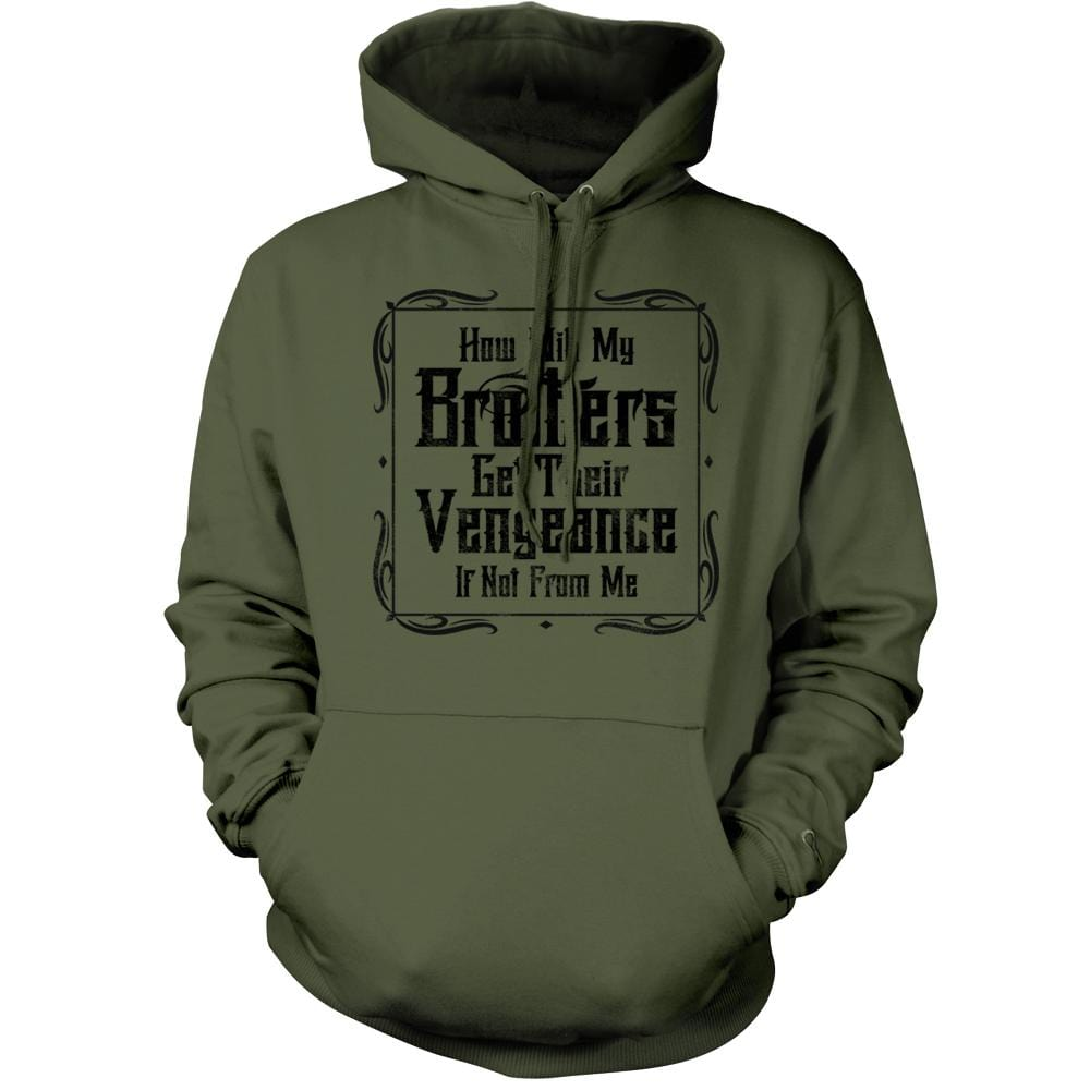 Brother's Vengeance Hoodie - Military Green - Hoodies - Pipe Hitters Union