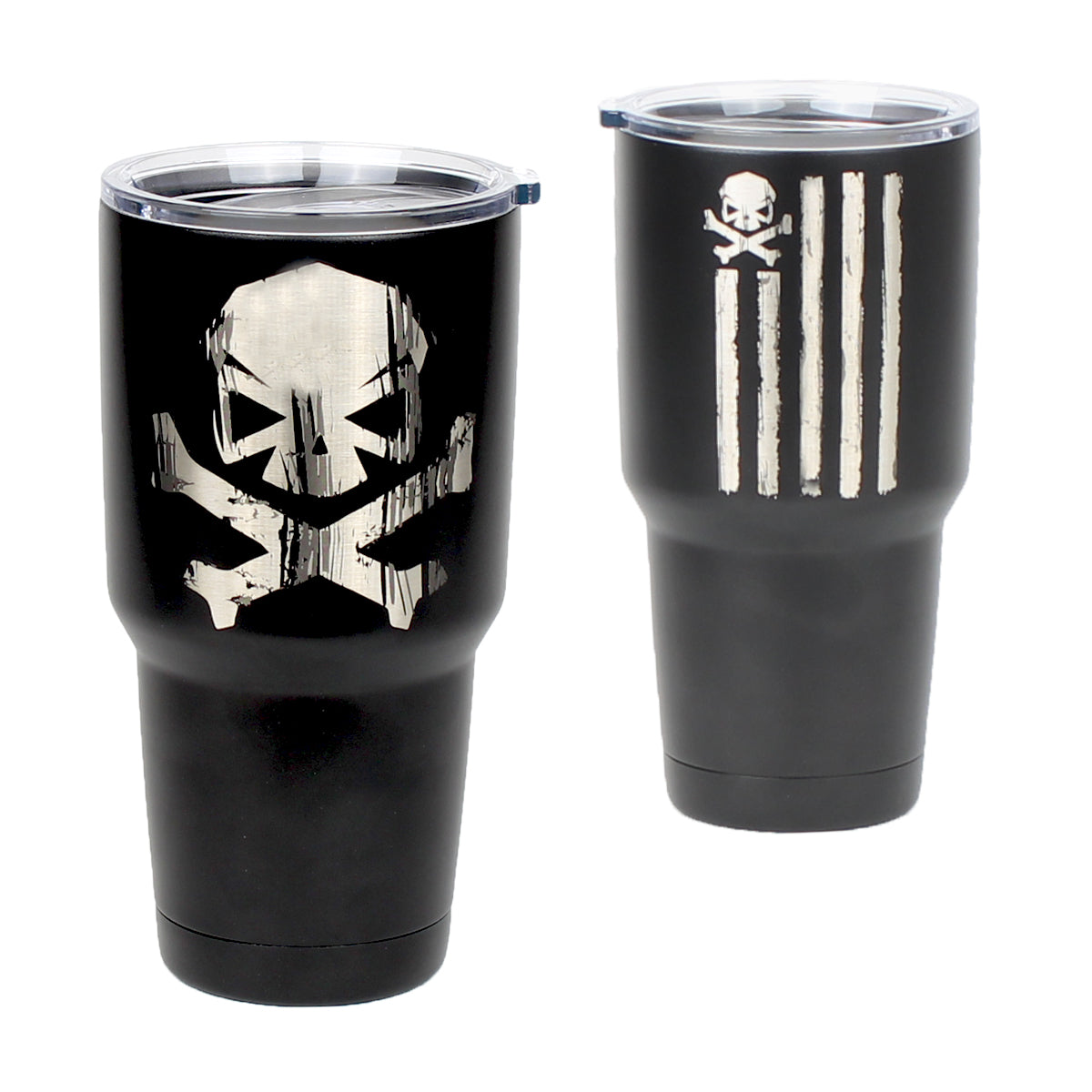 Battle Stripes - 30oz Tumbler - Black - Tumbler - Pipe Hitters Union