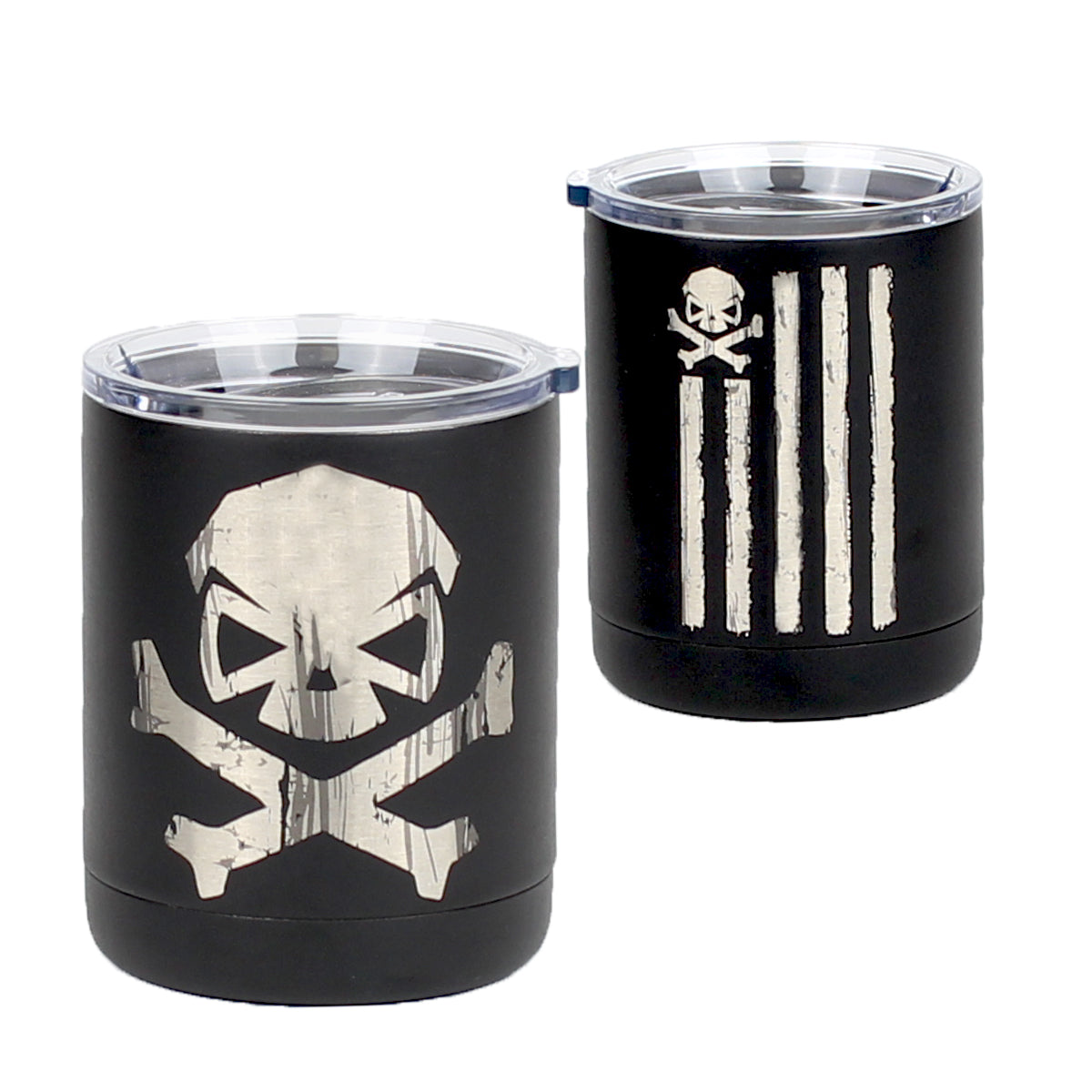 Battle Stripes - 10oz Lowball - Black - Tumbler - Pipe Hitters Union