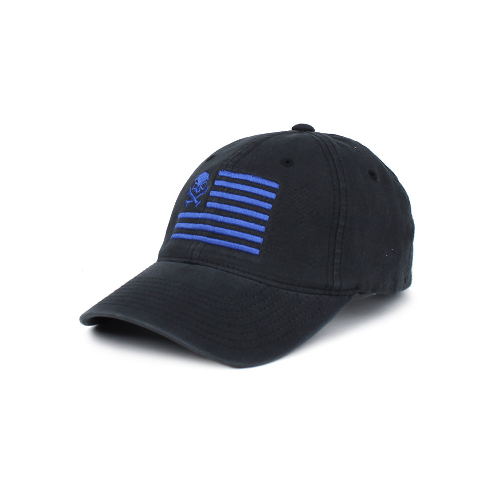 Skull American Flag - Black/Blue - Hats - Pipe Hitters Union