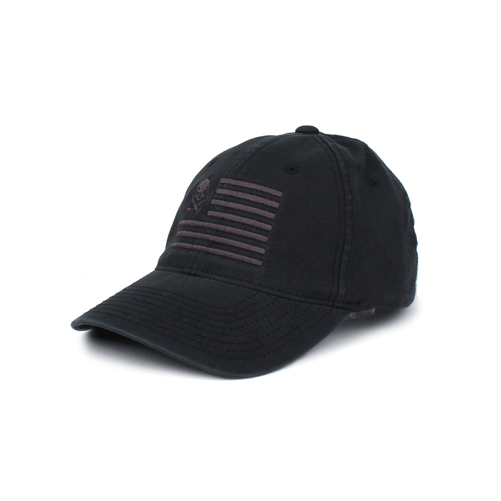 Skull American Flag - Black/Gray - Hats - Pipe Hitters Union