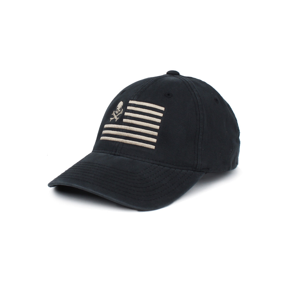 Skull American Flag - Black/Pewter - Hats - Pipe Hitters Union