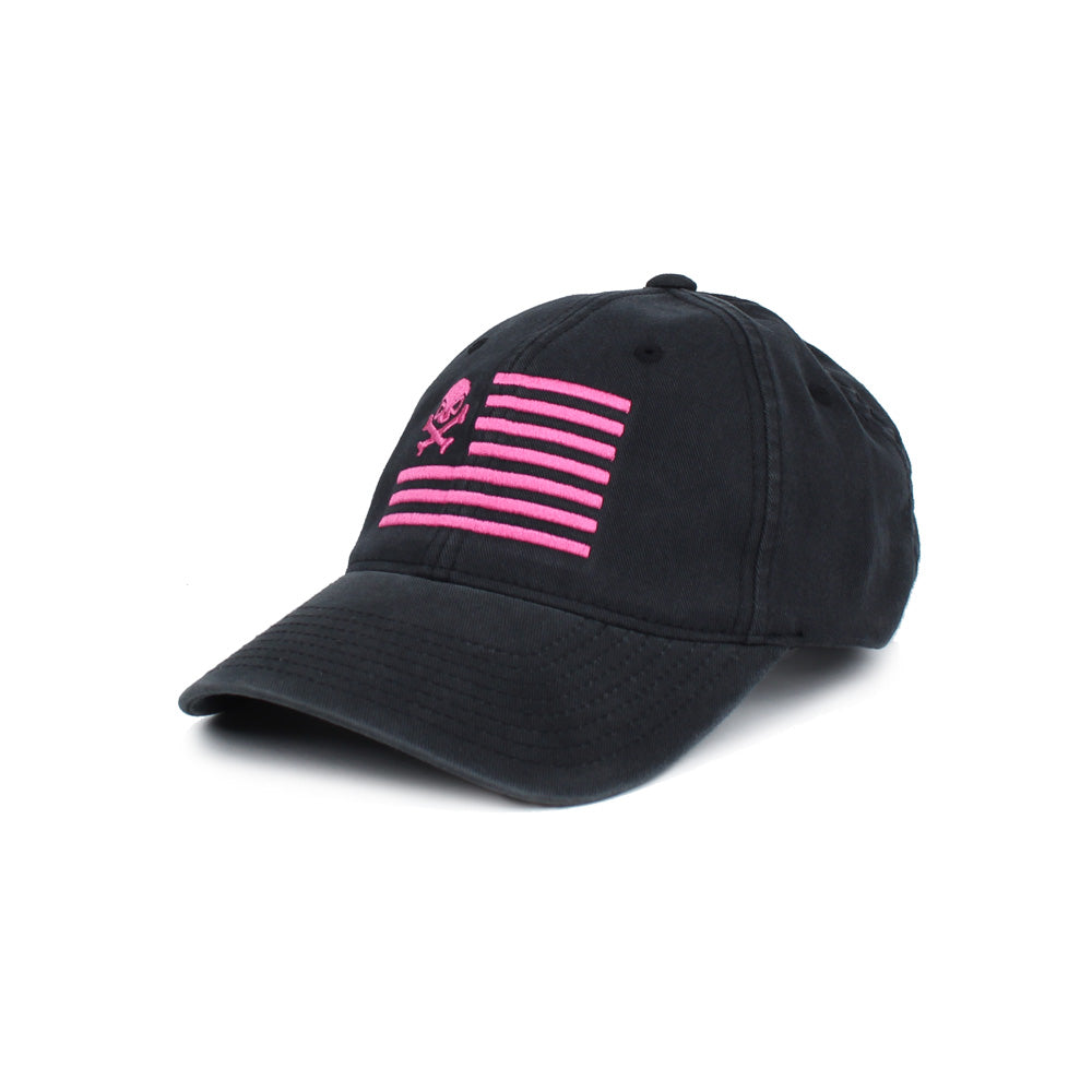 Skull American Flag - Black/Pink - Hats - Pipe Hitters Union