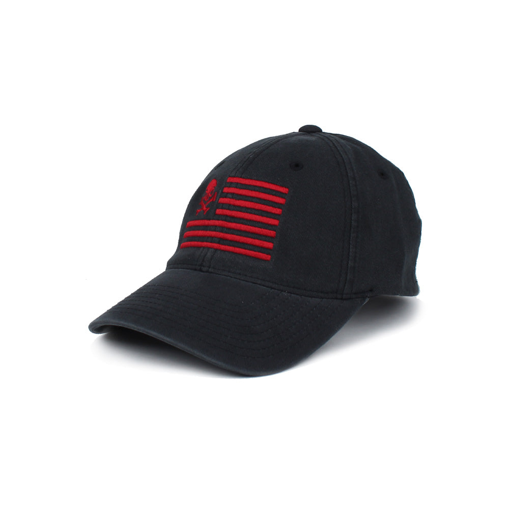 Skull American Flag - Black/Red - Hats - Pipe Hitters Union