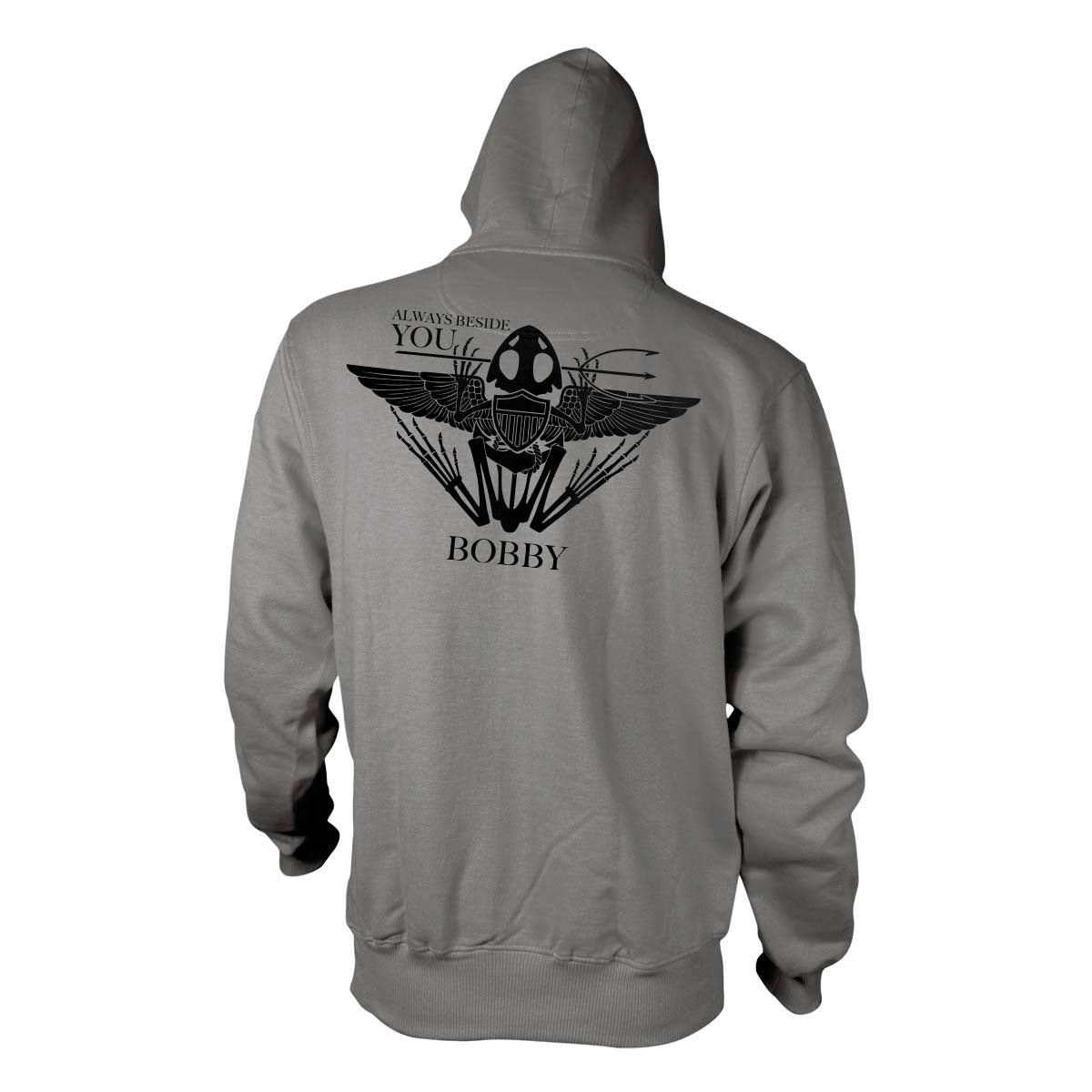 Robert 'Bobby' Needham - Memorial Hoodie - Grey - Hoodies - Pipe Hitters Union
