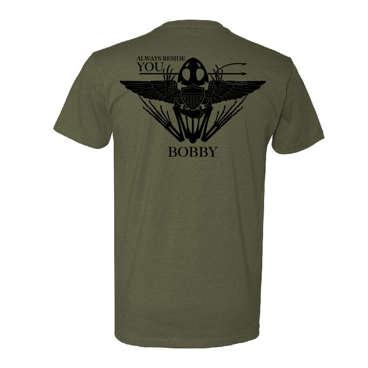 Robert 'Bobby' Needham - Memorial Tee - Military Green - T-Shirts - Pipe Hitters Union