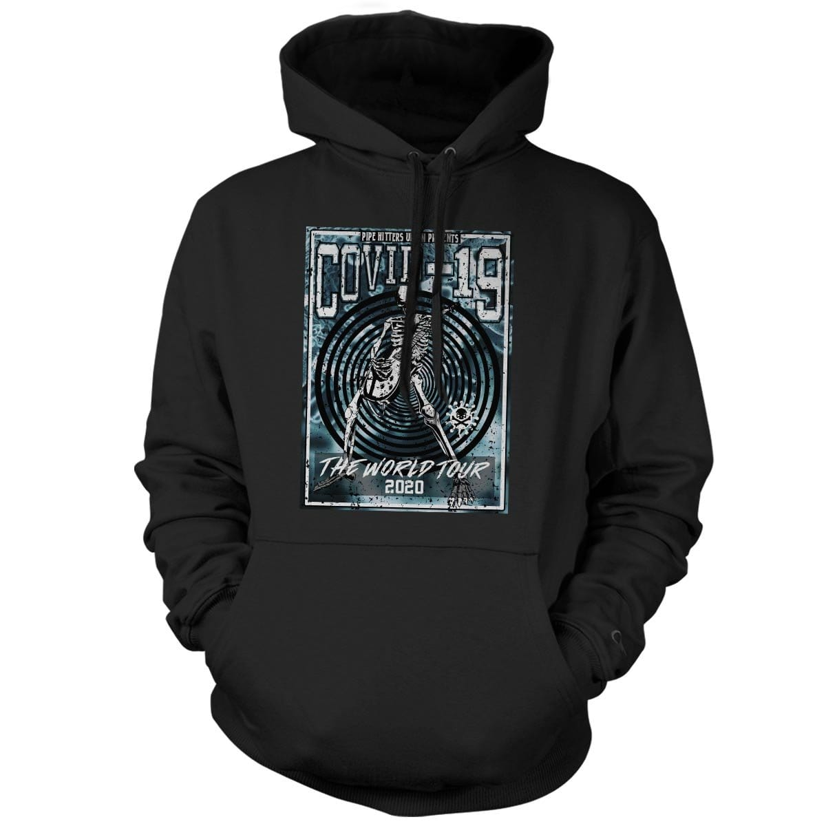 Covid-19 World Tour - Hoodie - Black/Blue - Hoodies - Pipe Hitters Union