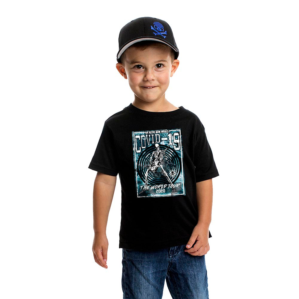 Covid-19 World Tour - Youth - Black/Blue - T-Shirts - Pipe Hitters Union