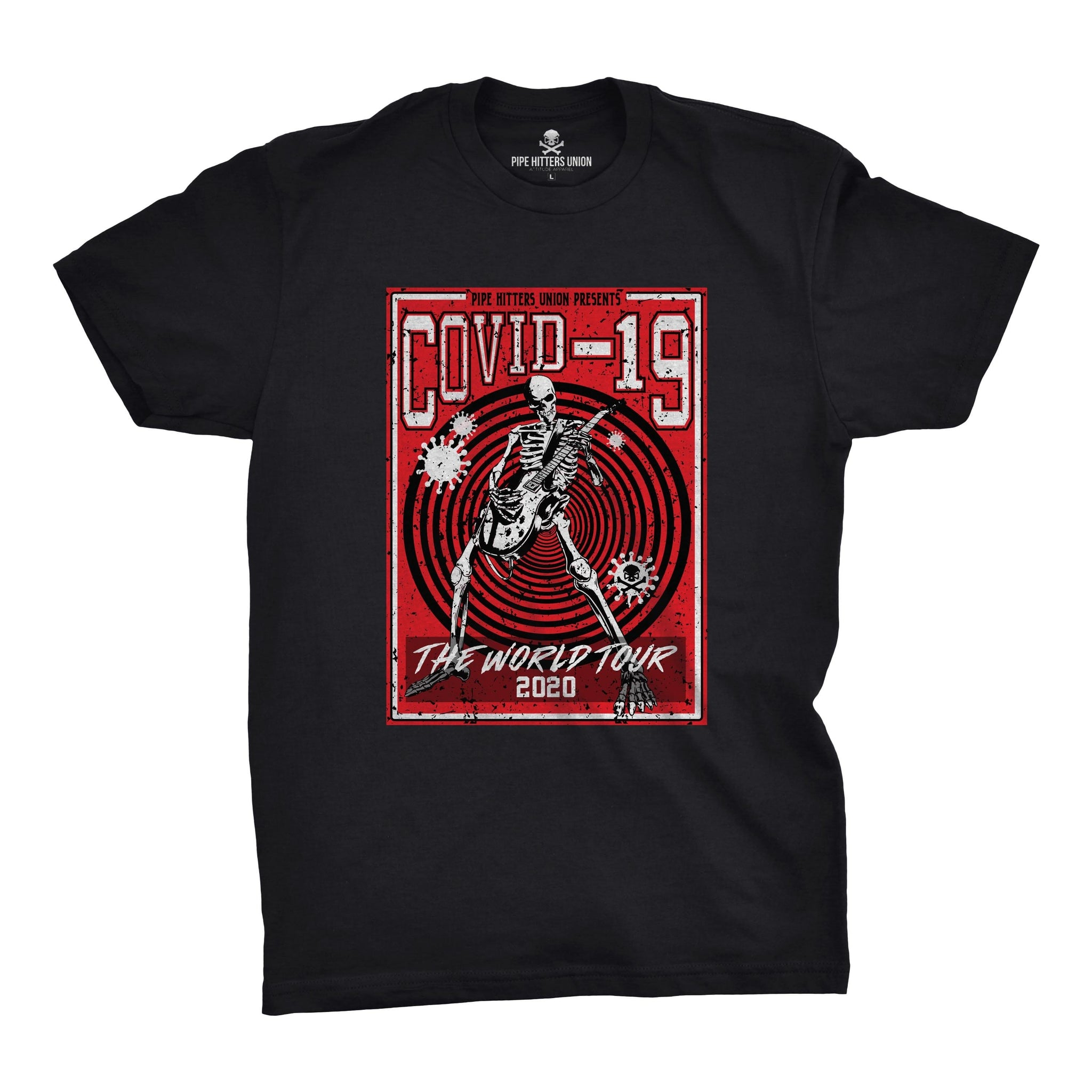 Covid-19 World Tour - Black/Red - T-Shirts - Pipe Hitters Union