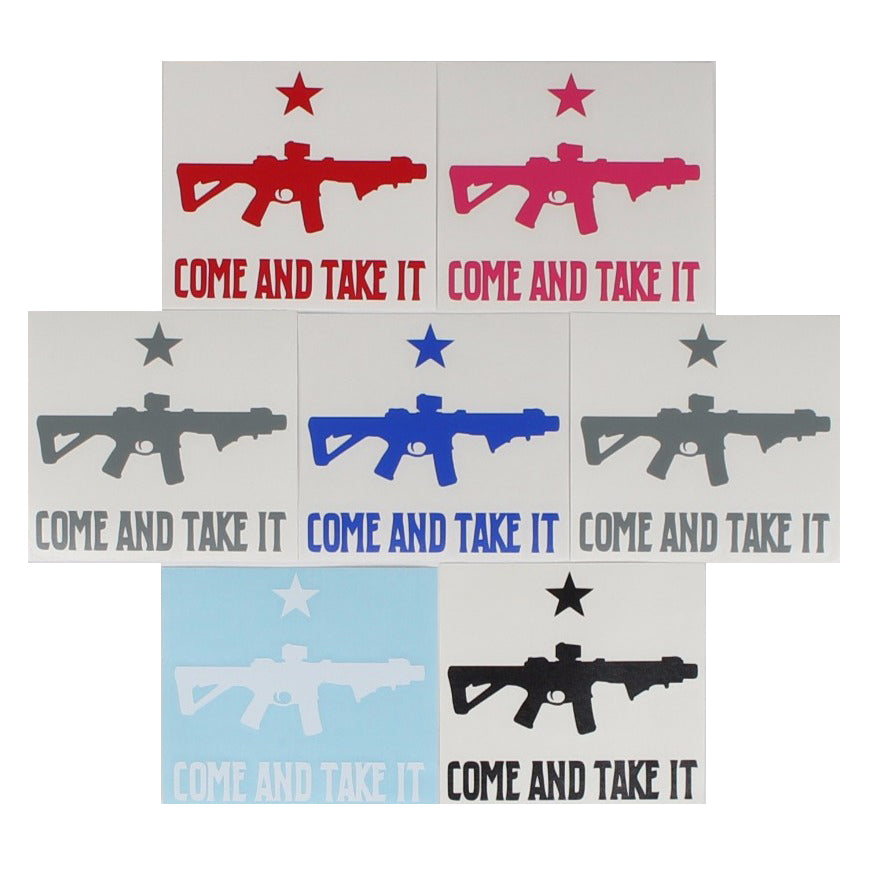 Come And Take It / AR15 - Decal - Pink - Decals - Pipe Hitters Union