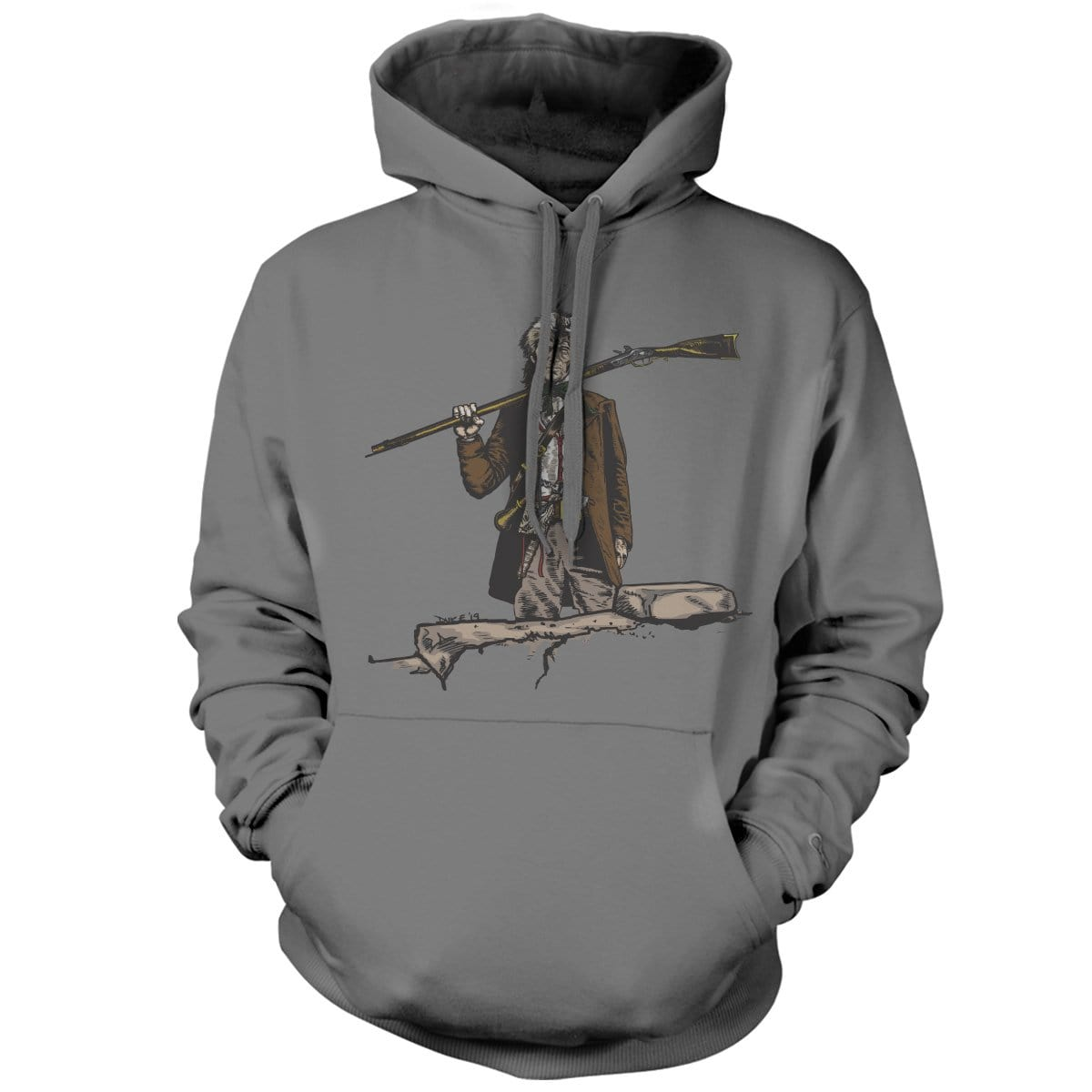 Original Pipe Hitter - Davy Hoodie - Grey - Hoodies - Pipe Hitters Union