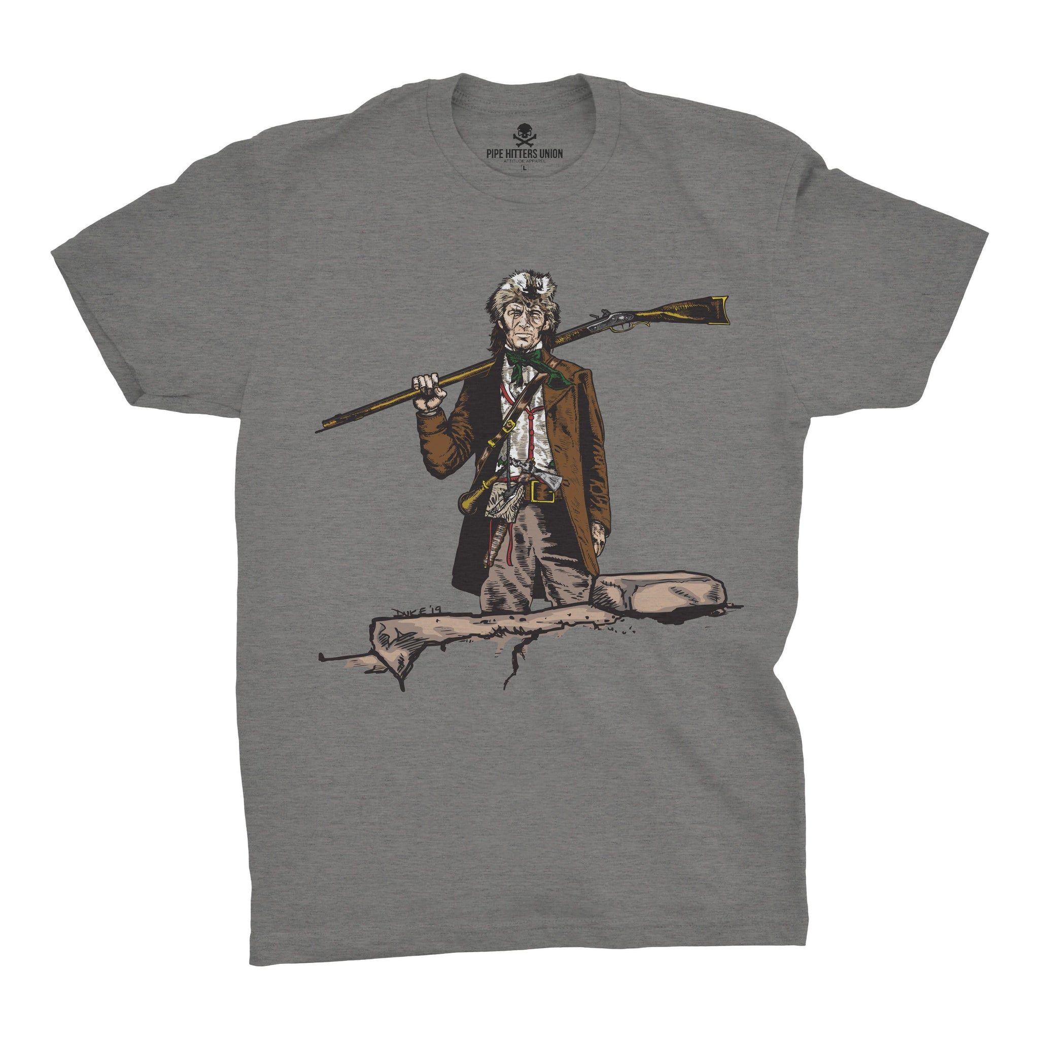 Original Pipe Hitter - Davy - Grey - T-Shirts - Pipe Hitters Union