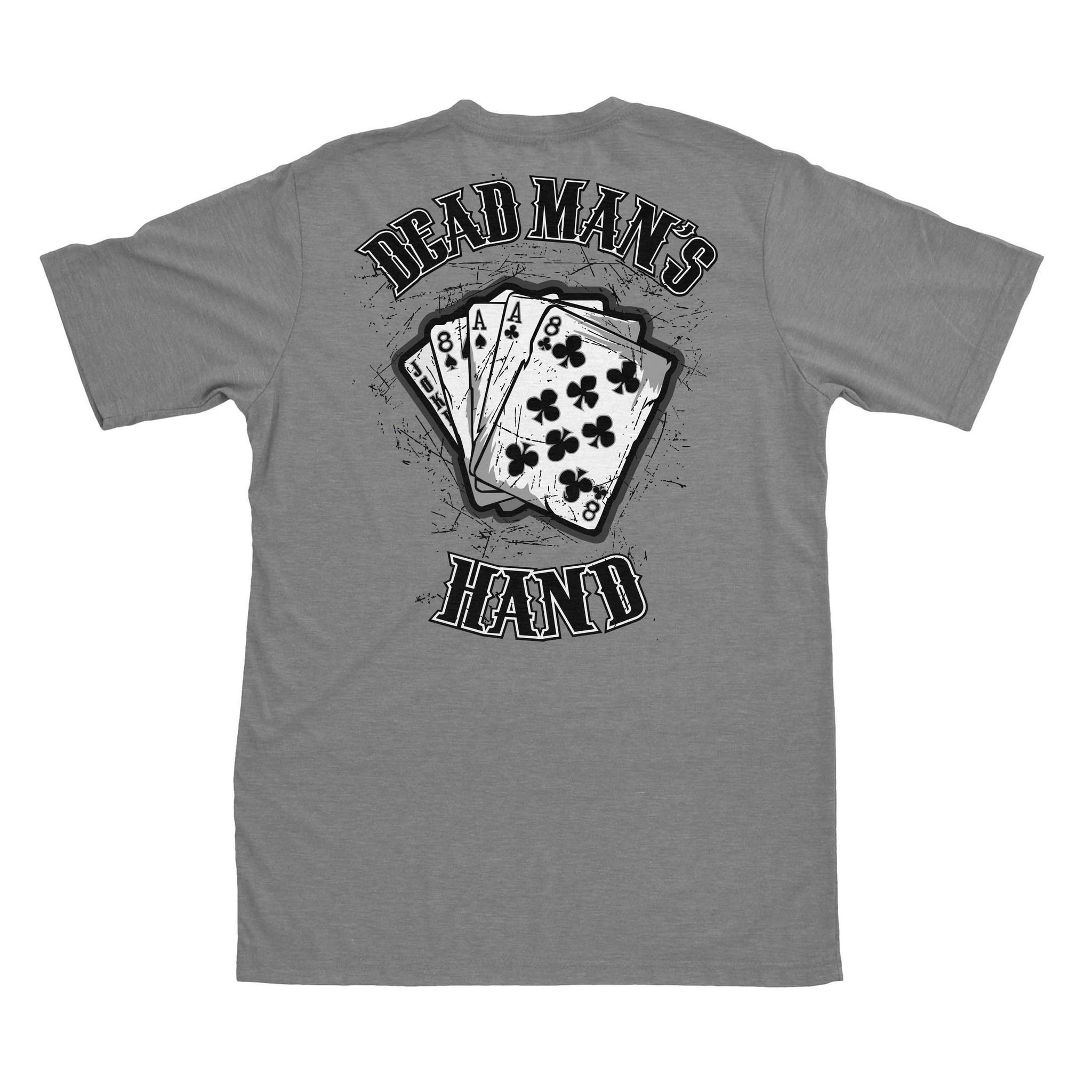 Dead Man's Hand - Grey - T-Shirts - Pipe Hitters Union