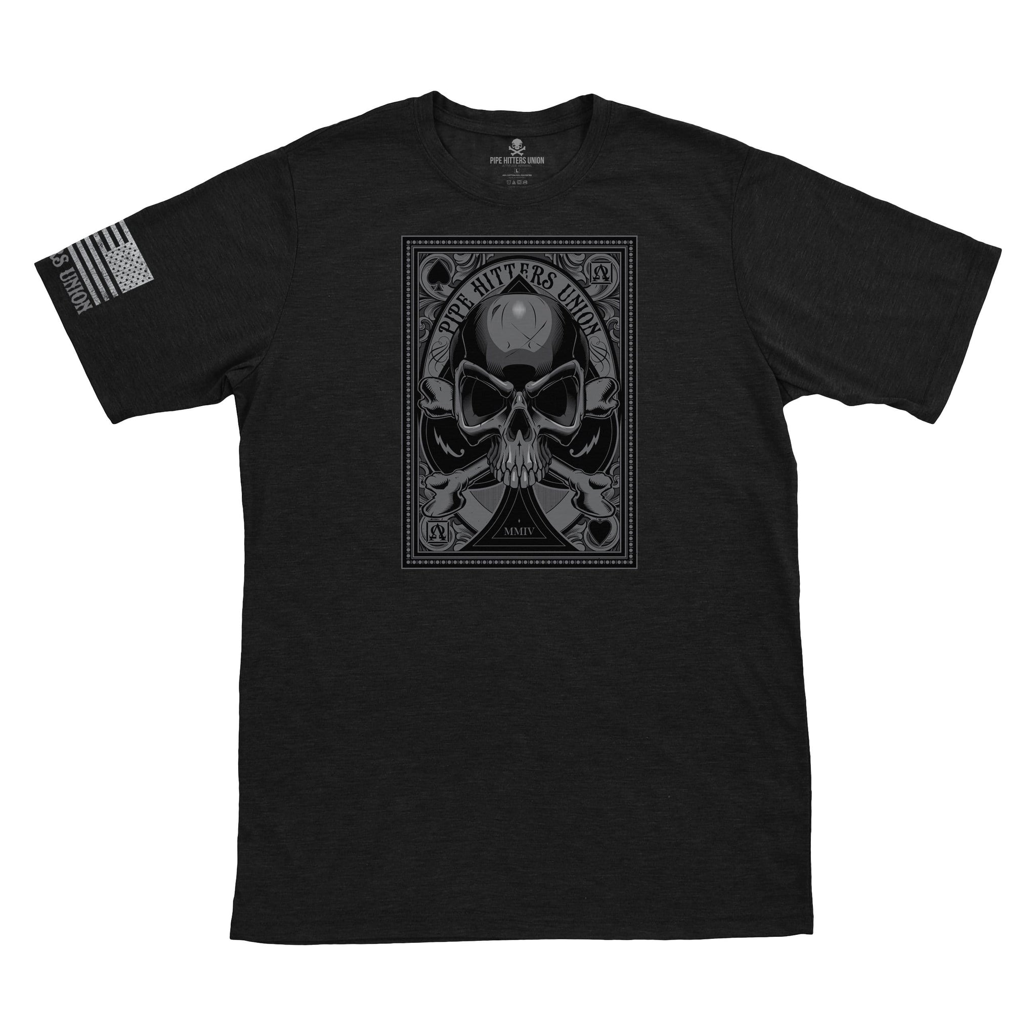Death Card - Ace - Black - T-Shirts - Pipe Hitters Union