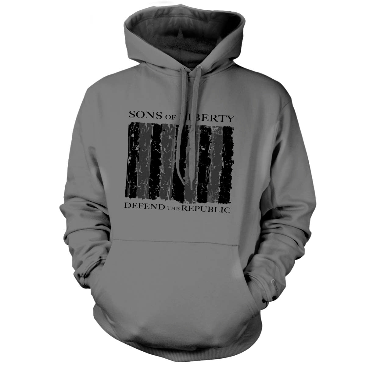 Sons of Liberty - Defend the Republic - Hoodie - Grey - T-Shirts - Pipe Hitters Union