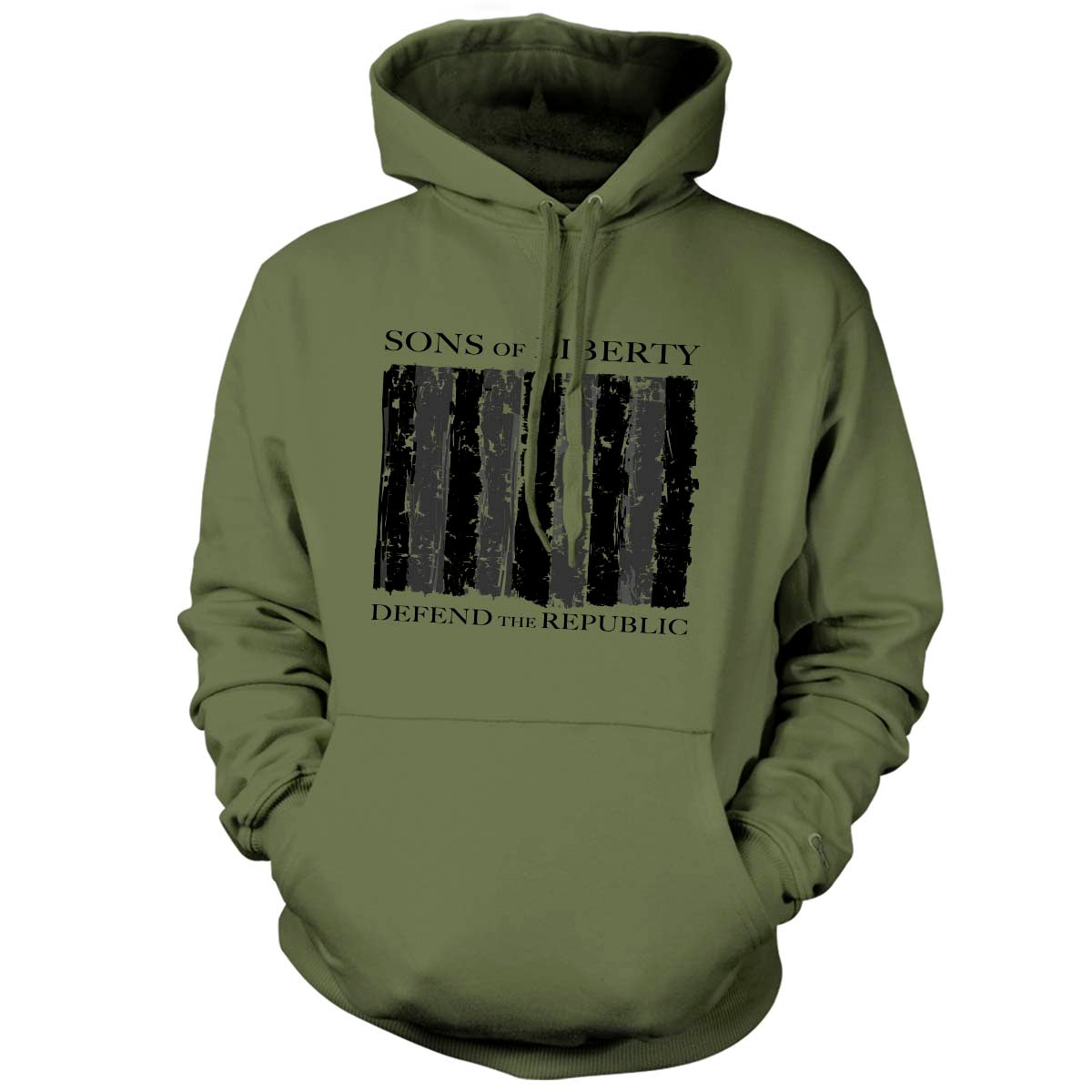 Sons of Liberty - Defend the Republic - Hoodie - Military Green - T-Shirts - Pipe Hitters Union