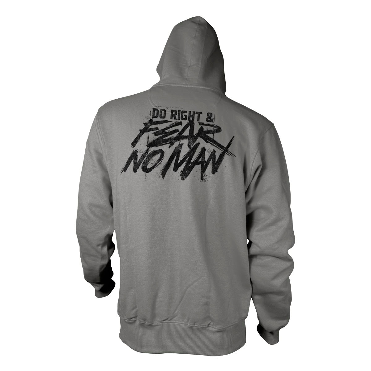 Do Right And Fear No Man - Hoodie - Grey - Hoodies - Pipe Hitters Union
