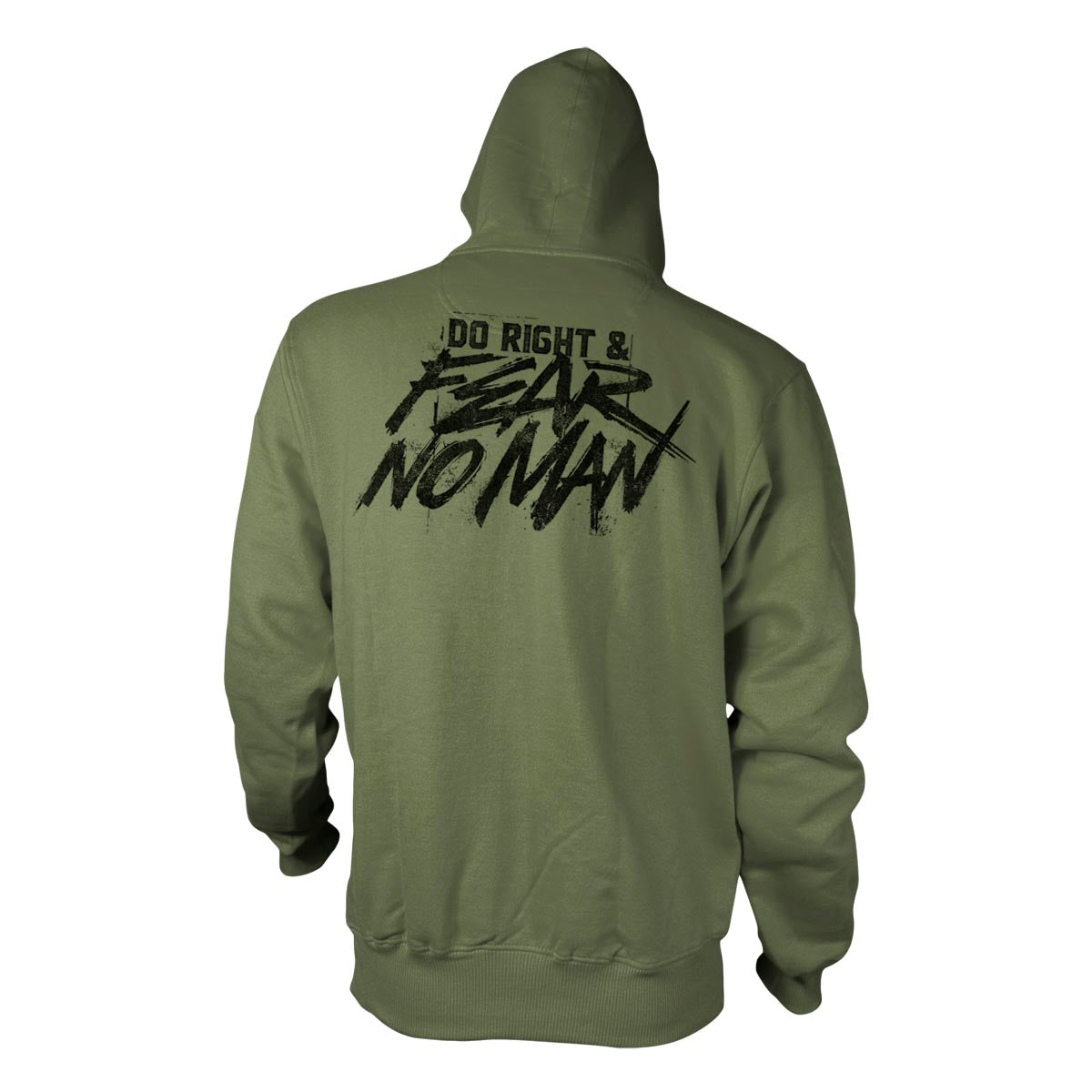 Do Right And Fear No Man - Hoodie - Military Green - Hoodies - Pipe Hitters Union