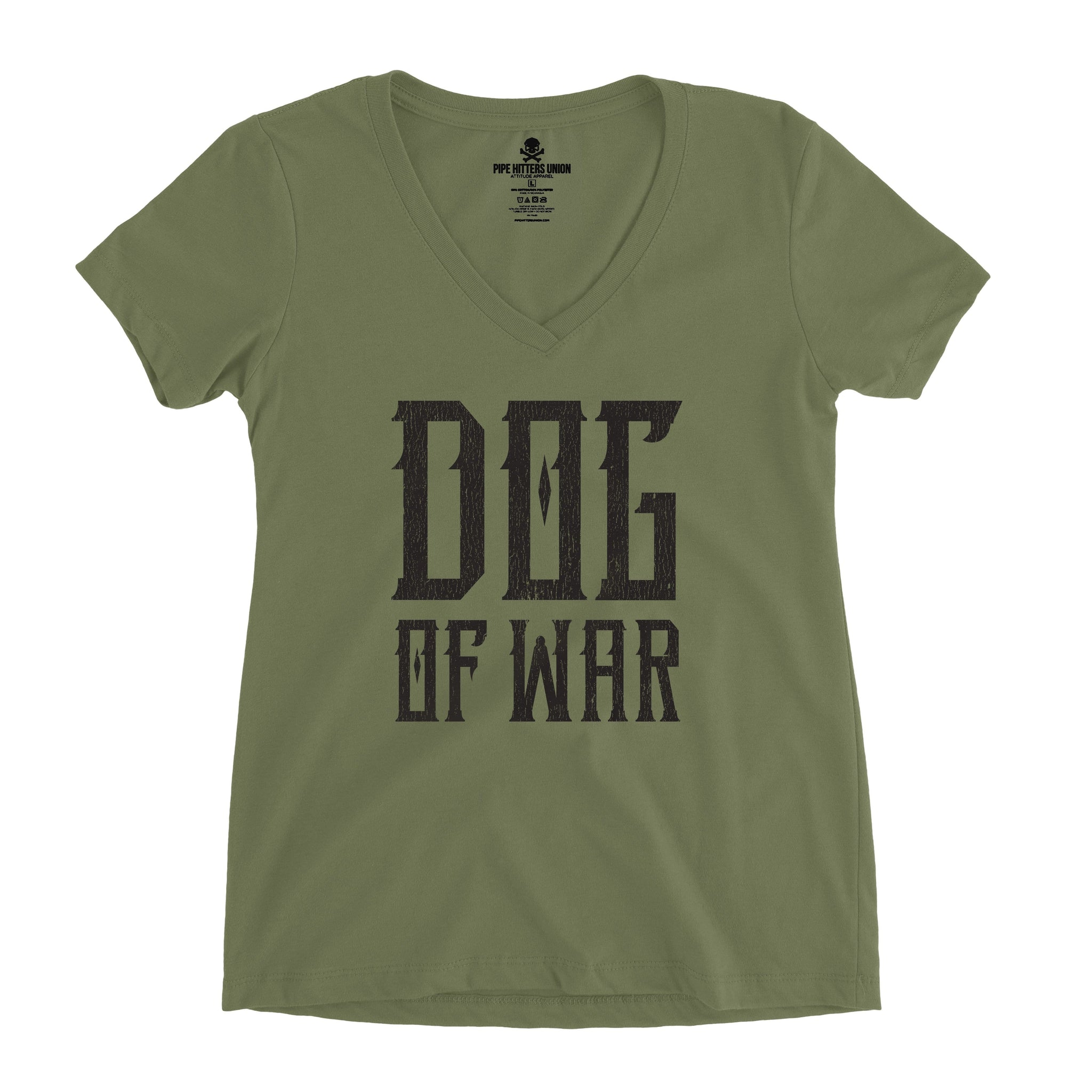 Dog of War (V-Neck) - Military Green - T-Shirts - Pipe Hitters Union