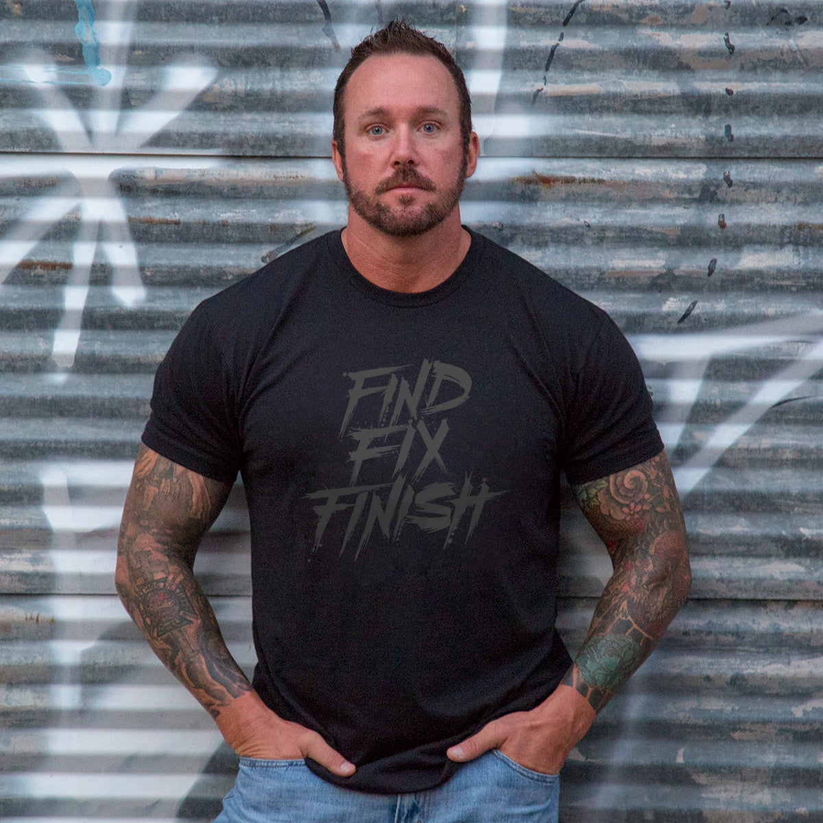 Find Fix Finish -  - T-Shirts - Pipe Hitters Union