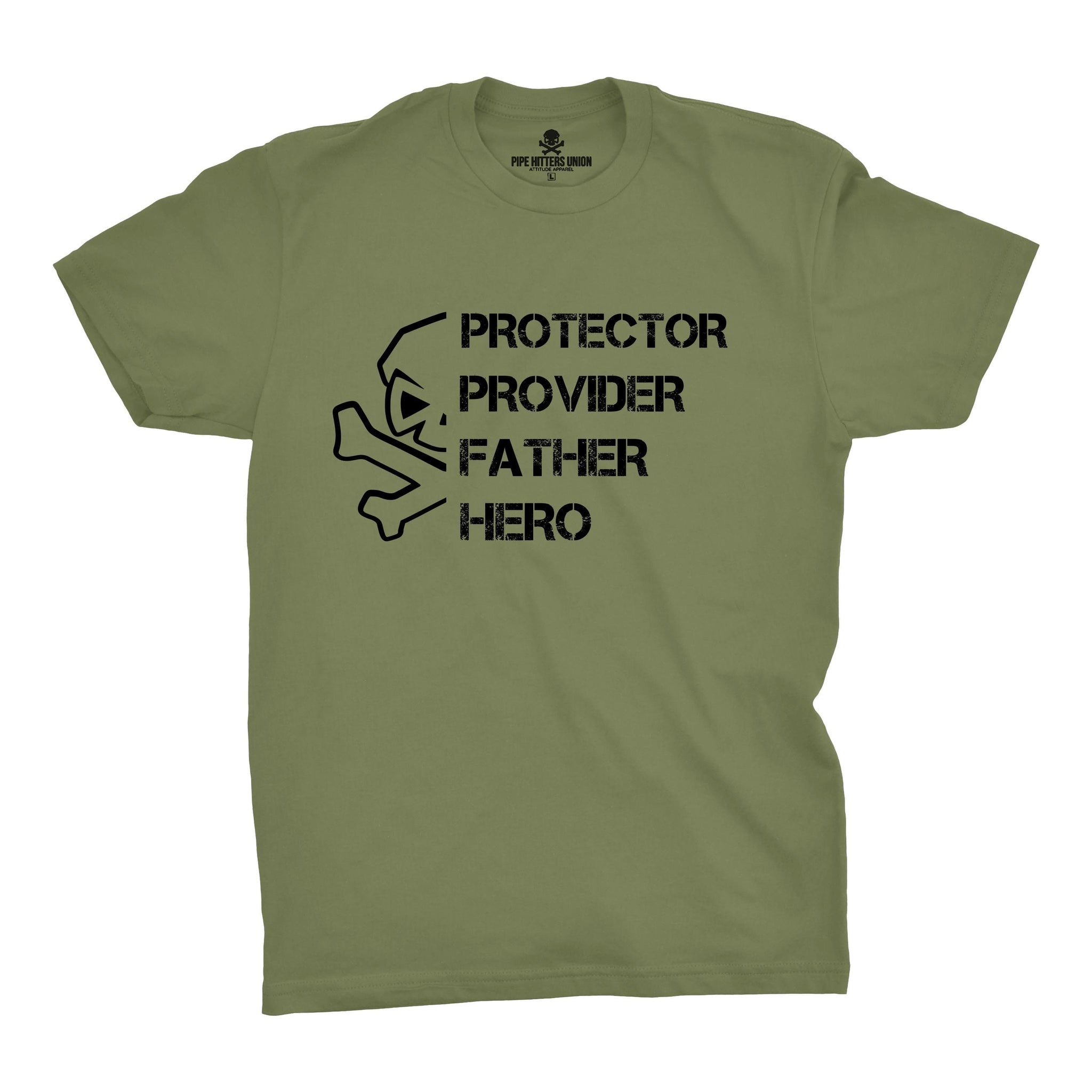PPFH Skull (Provider) - Military Green - T-Shirts - Pipe Hitters Union