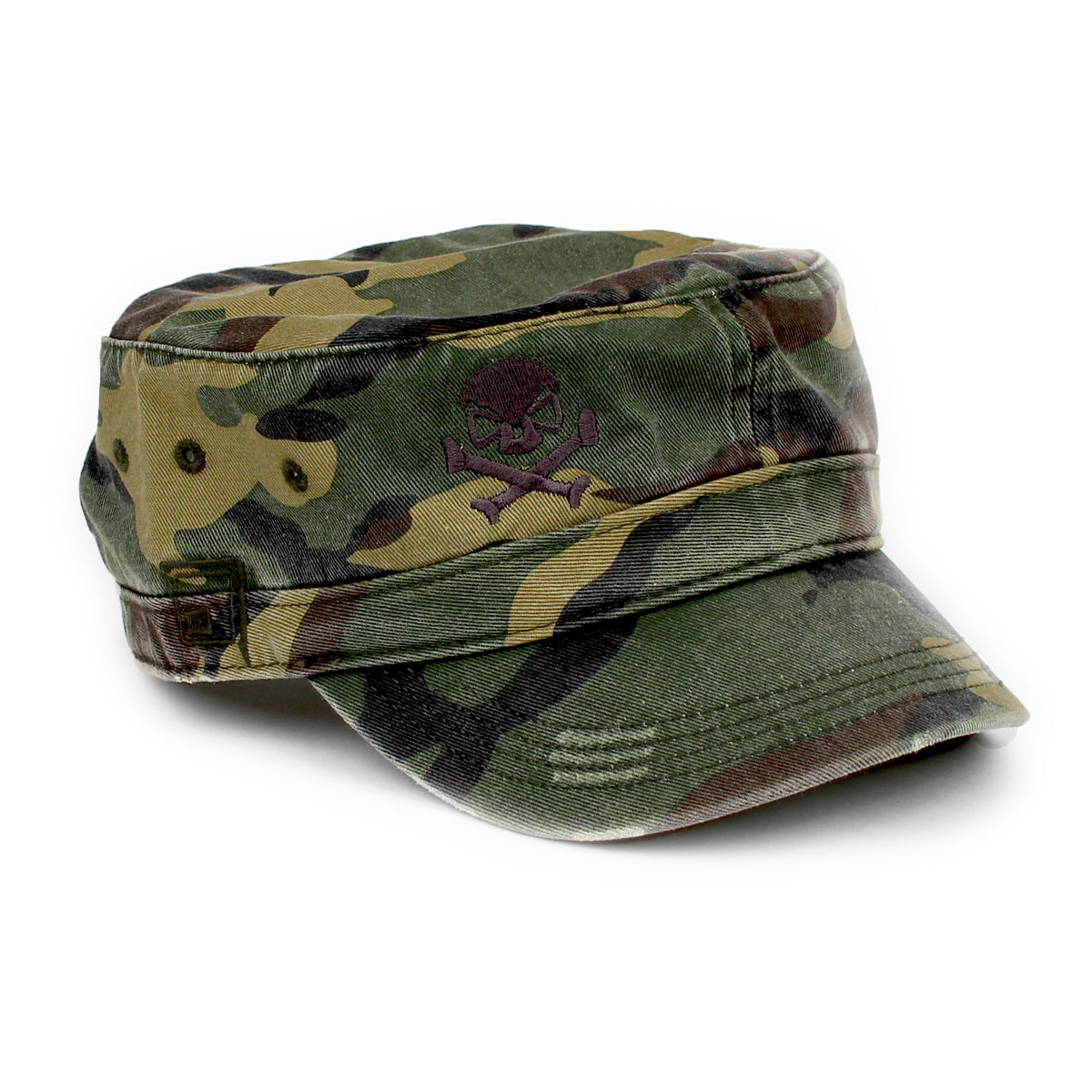 Cadet Cap - Woodland Camo/Grey - Hats - Pipe Hitters Union