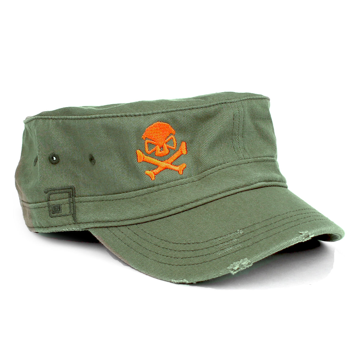 Cadet Cap - Olive/Orange - Hats - Pipe Hitters Union