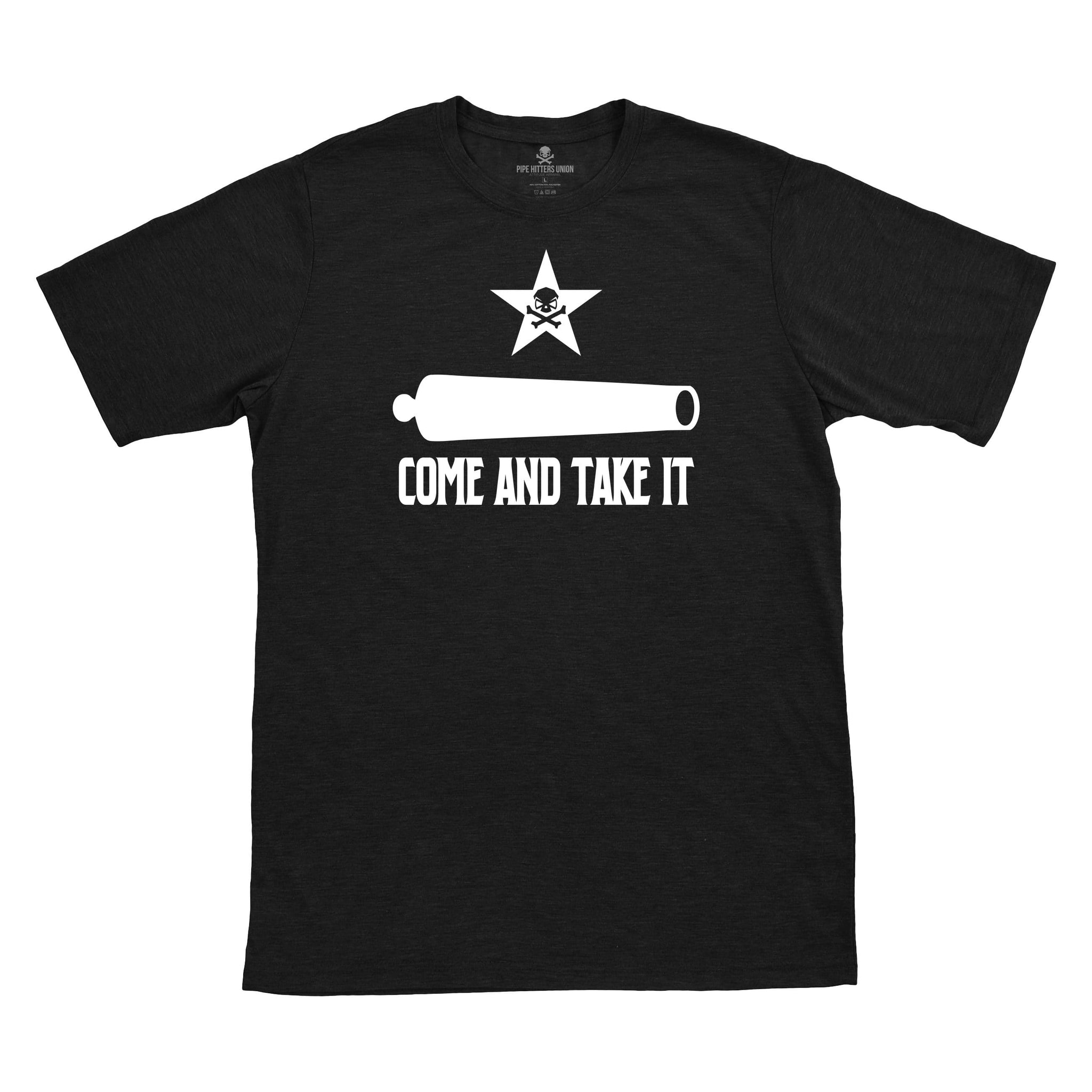 Come and Take It - Canon - Black - T-Shirts - Pipe Hitters Union