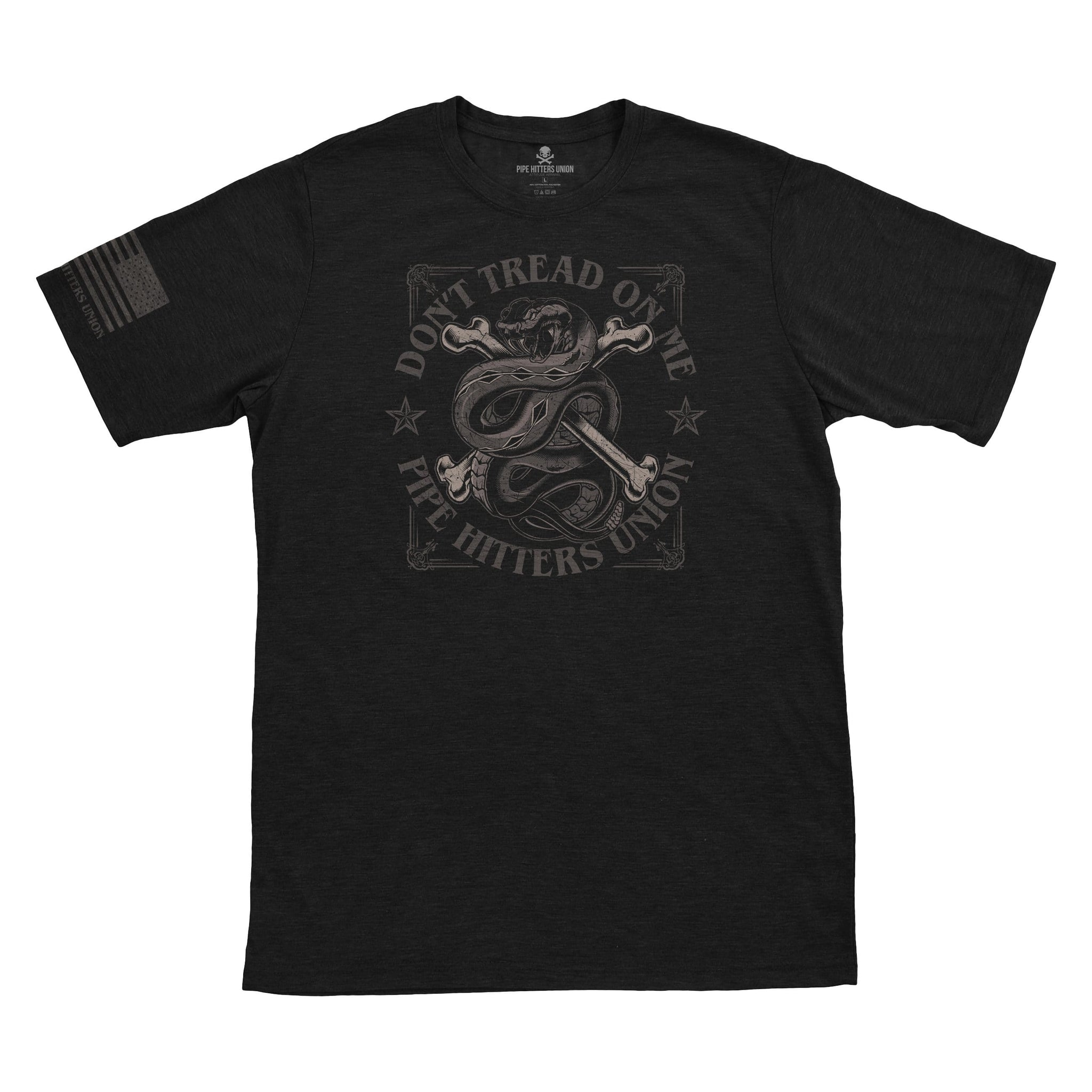 Don't Tread on Me - Black - T-Shirts - Pipe Hitters Union