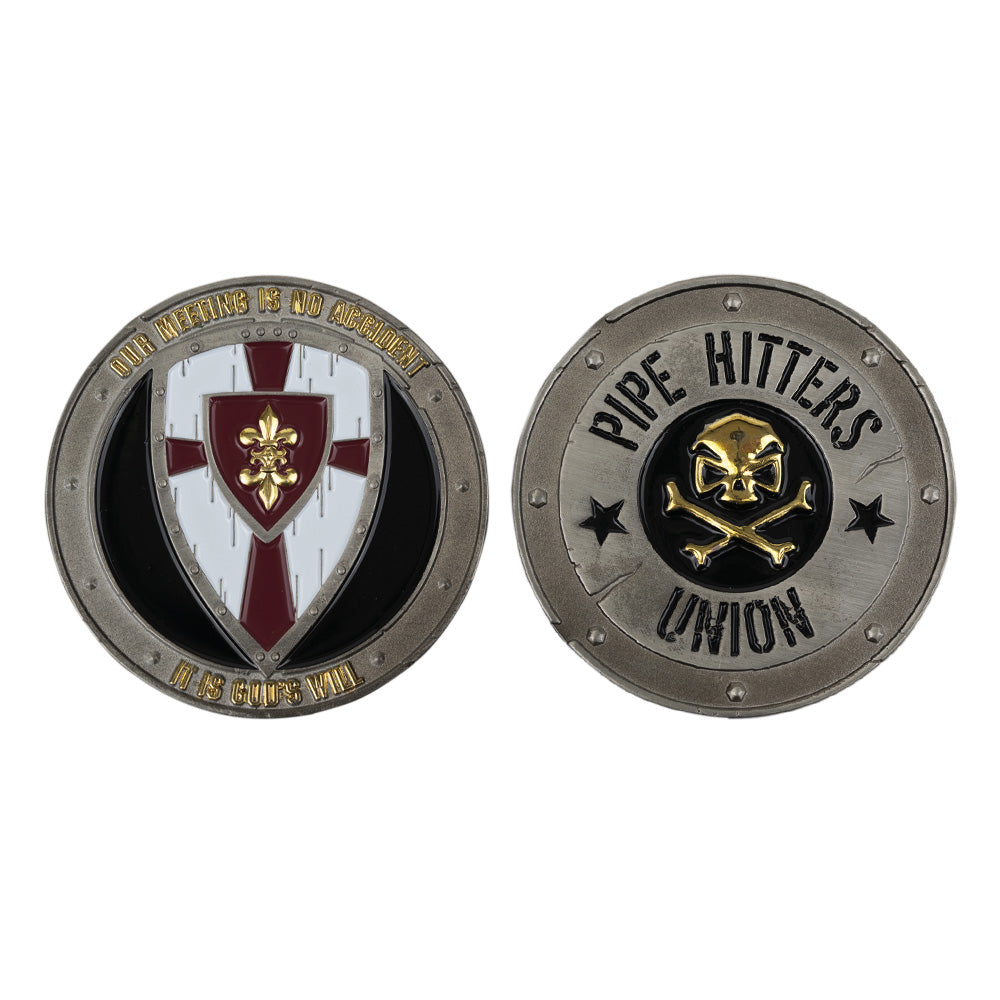 God's Will Challenge Coin - Pipe Hitters Union