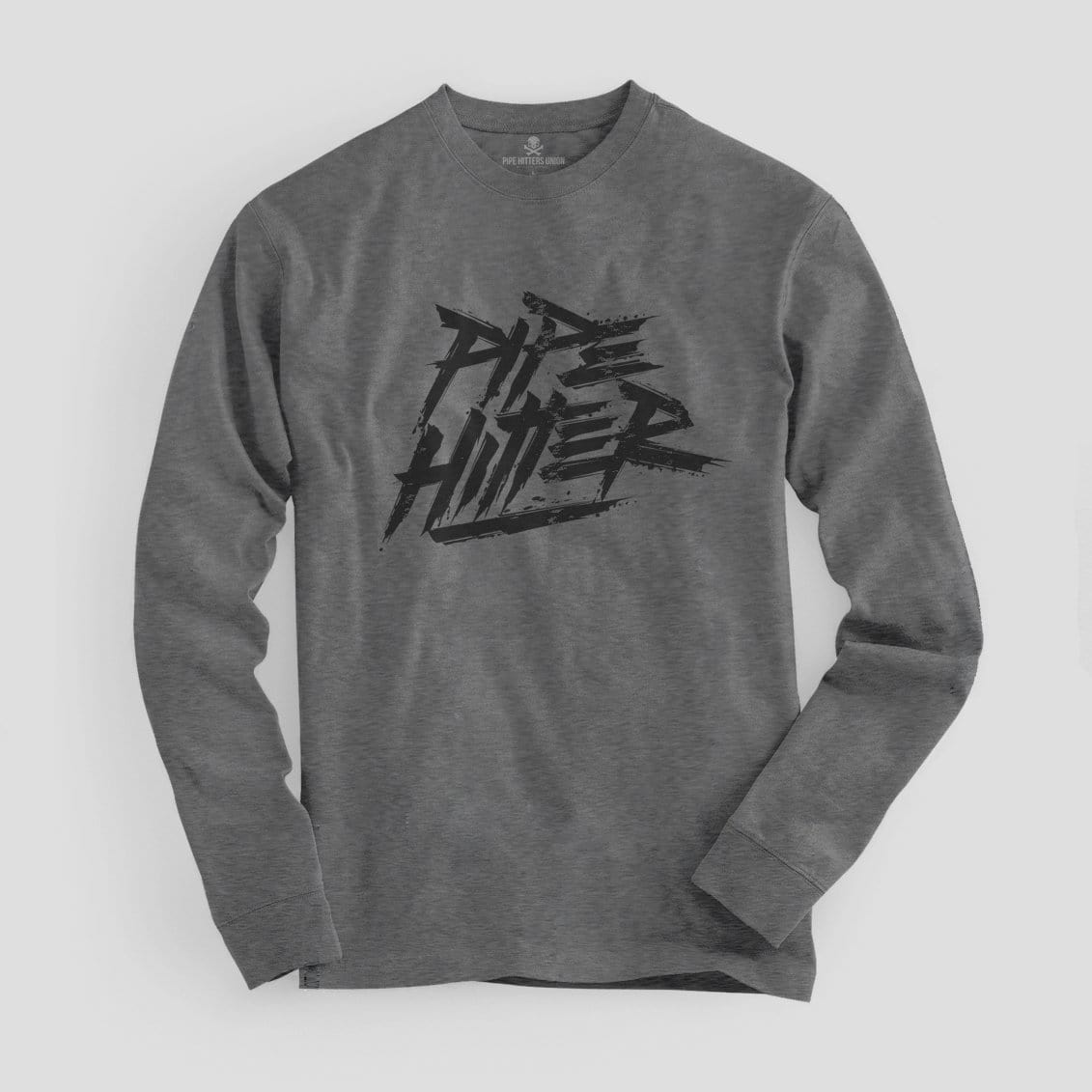 Pipe Hitter - Long Sleeve - Grey/Black - T-Shirts - Pipe Hitters Union