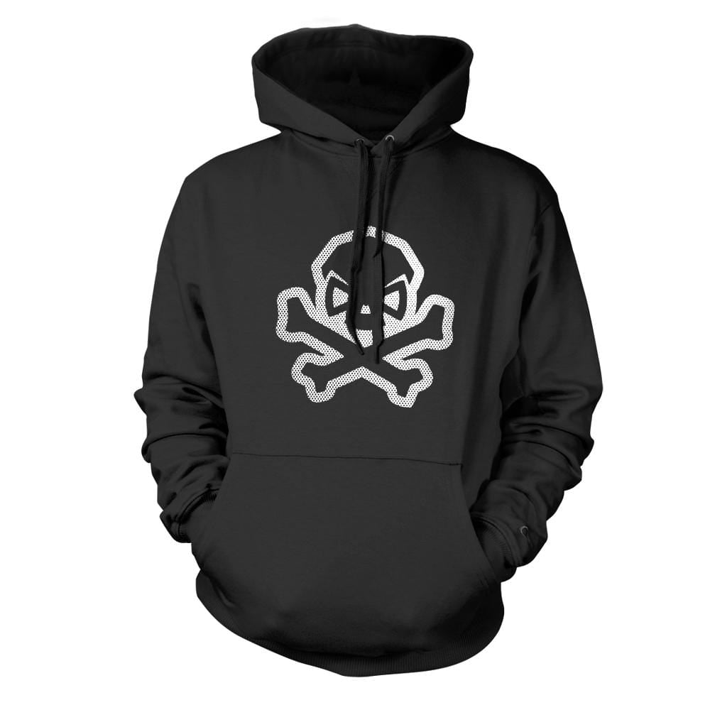 B&W Skull: Comic Edition Hoodie - Black - Hoodies - Pipe Hitters Union