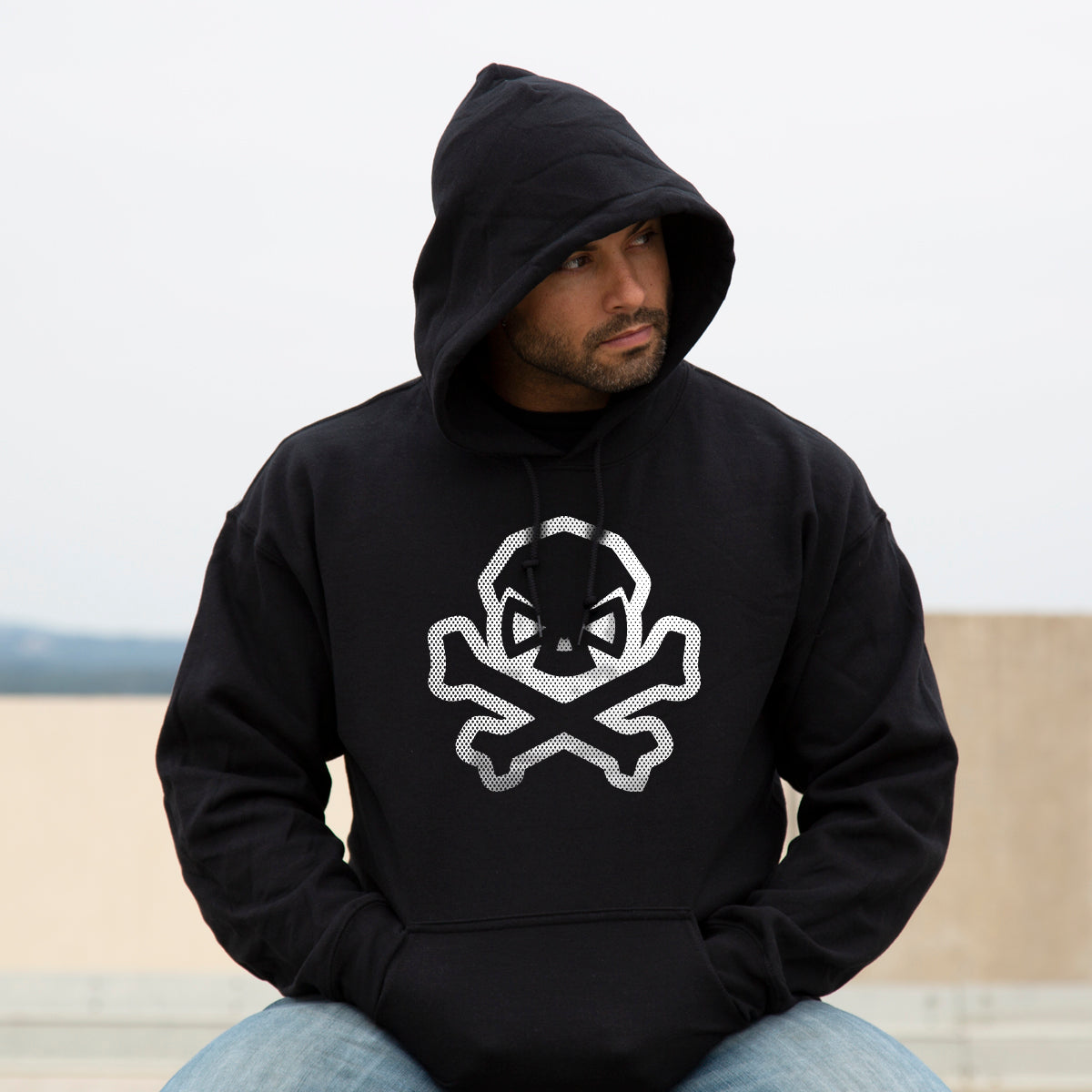 B&W Skull: Comic Edition Hoodie - Pipe Hitters Union