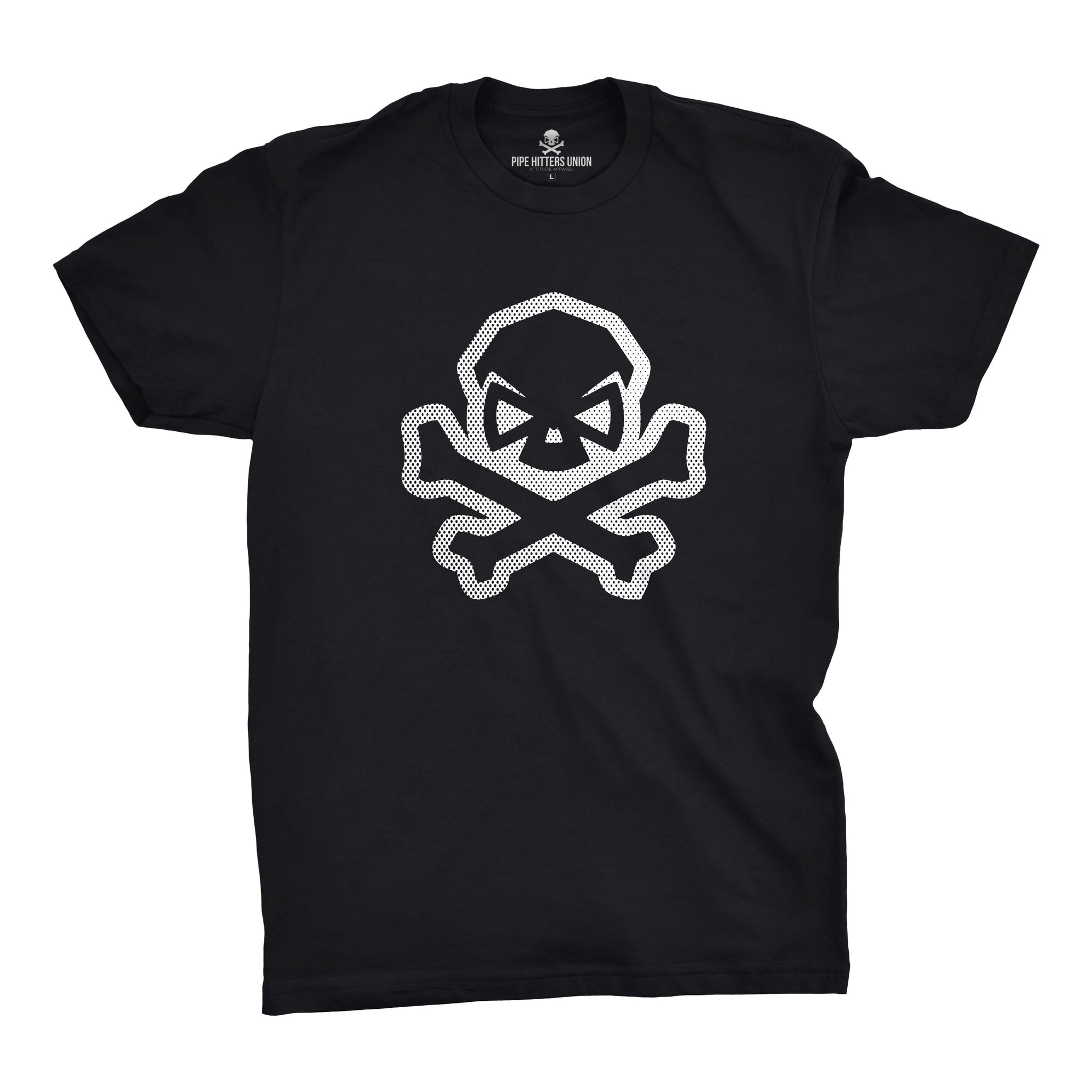 B&W Skull: Comic Edition - Black - T-Shirts - Pipe Hitters Union