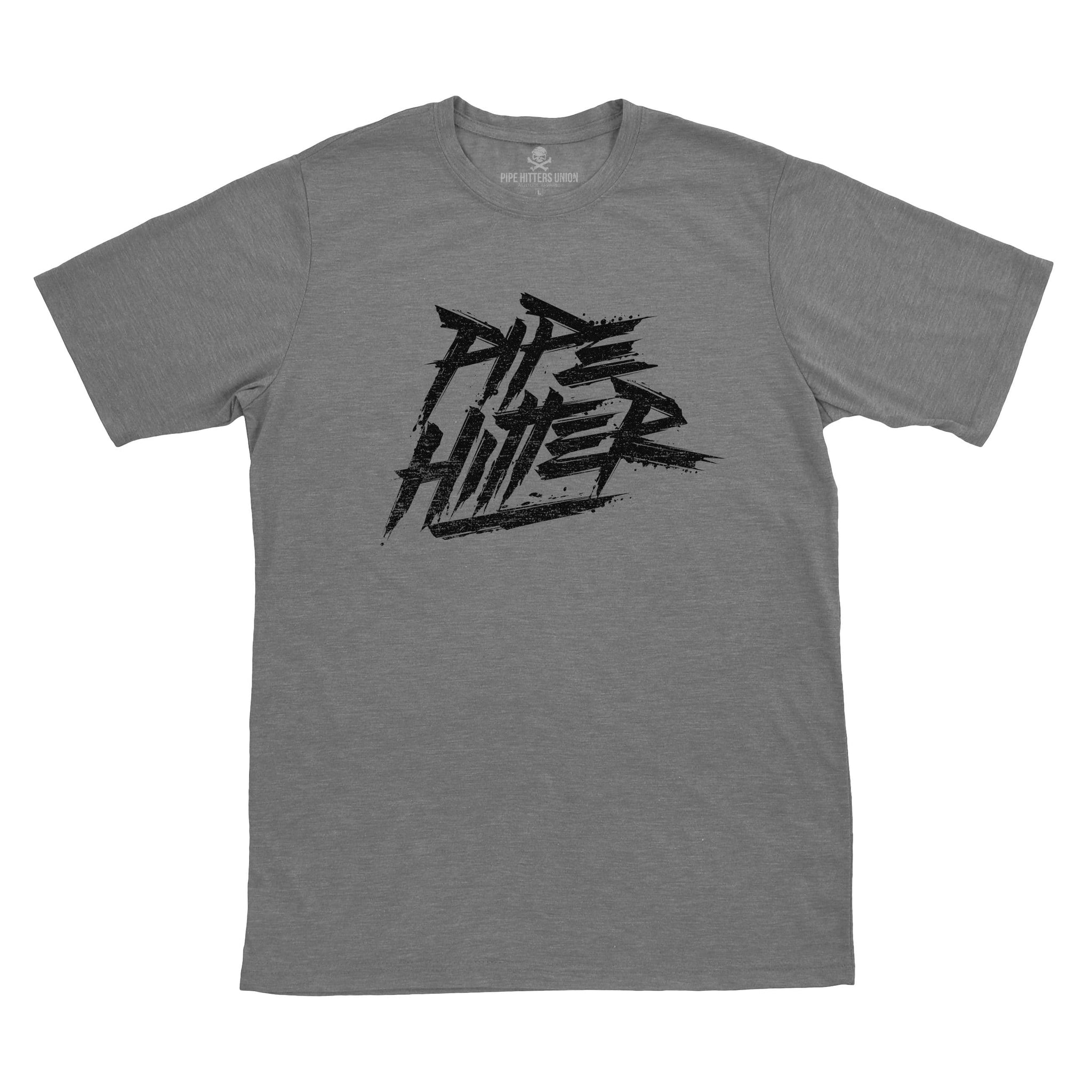 Pipe Hitter - Grey/Black - T-Shirts - Pipe Hitters Union